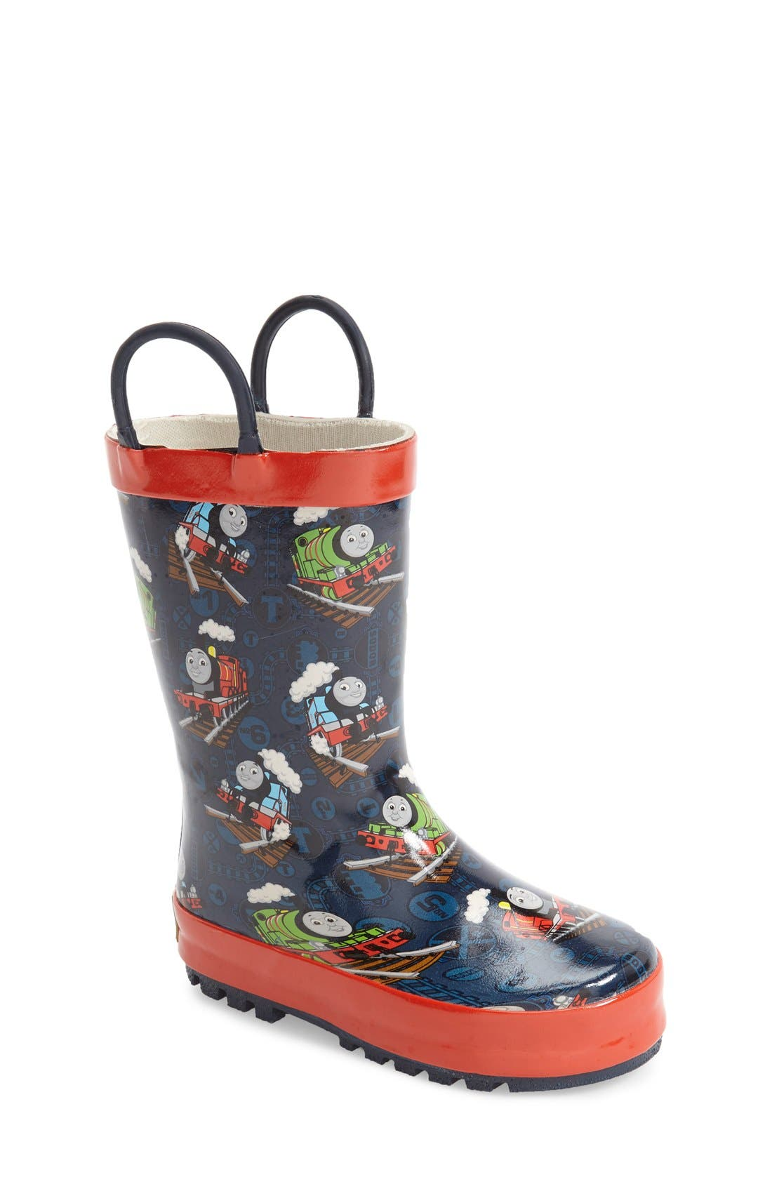 Thomas & Friends<sup>®</sup> Rain Boot,                             Main thumbnail 1, color,                             Navy