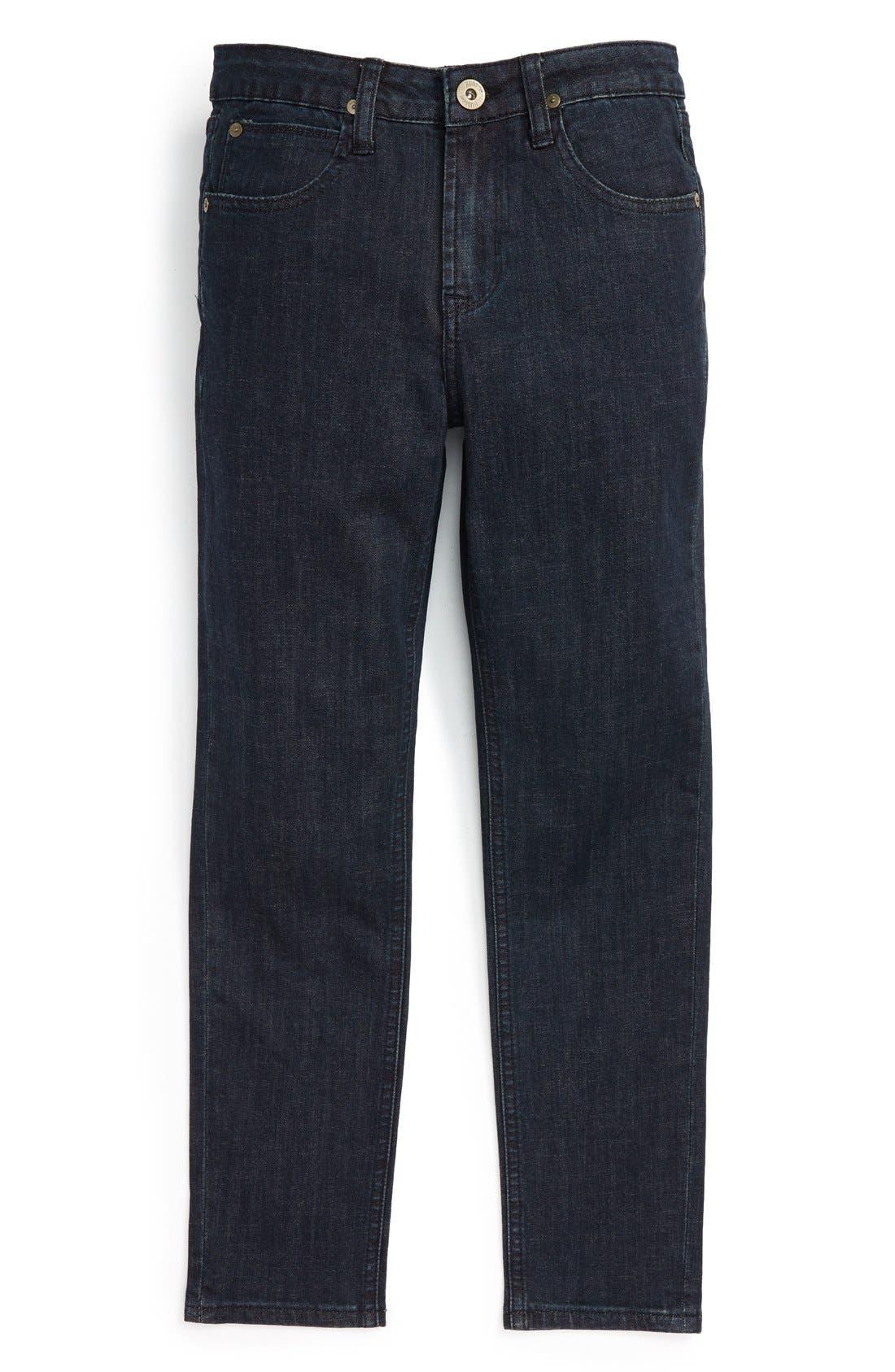 Jagger Slim Fit Straight Leg Jeans,                         Main,                         color, Midnight Raw