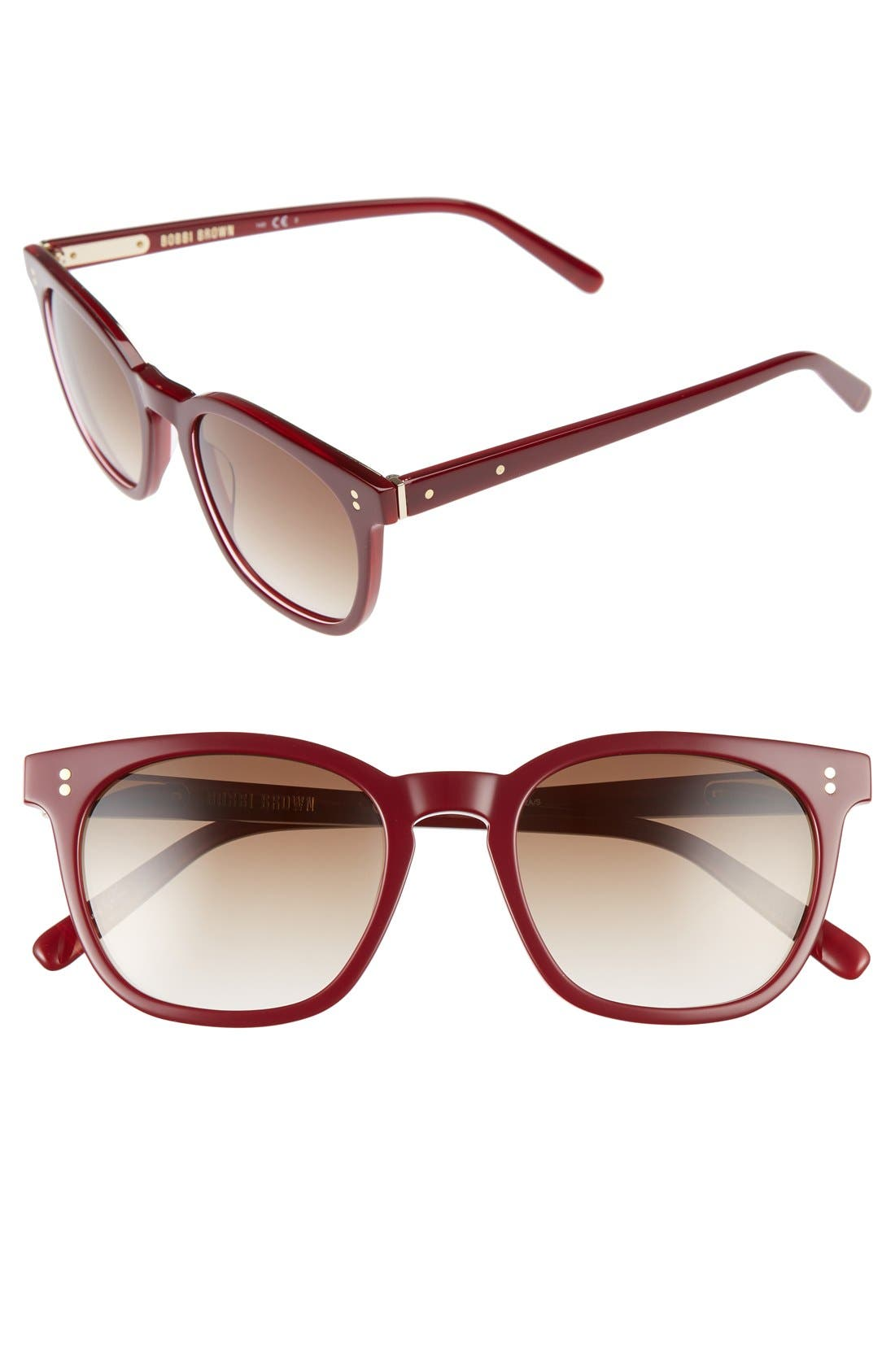 The Cassandra 50mm Sunglasses,                             Main thumbnail 1, color,                             Red