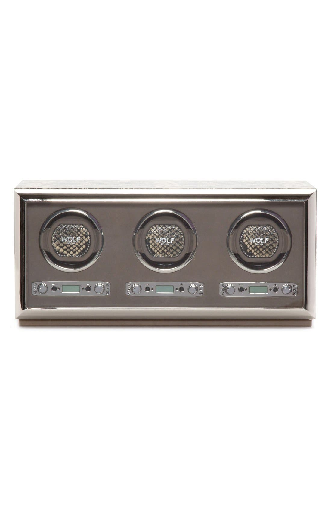 Alternate Image 1 Selected - Wolf Exotic Triple Watch Winder