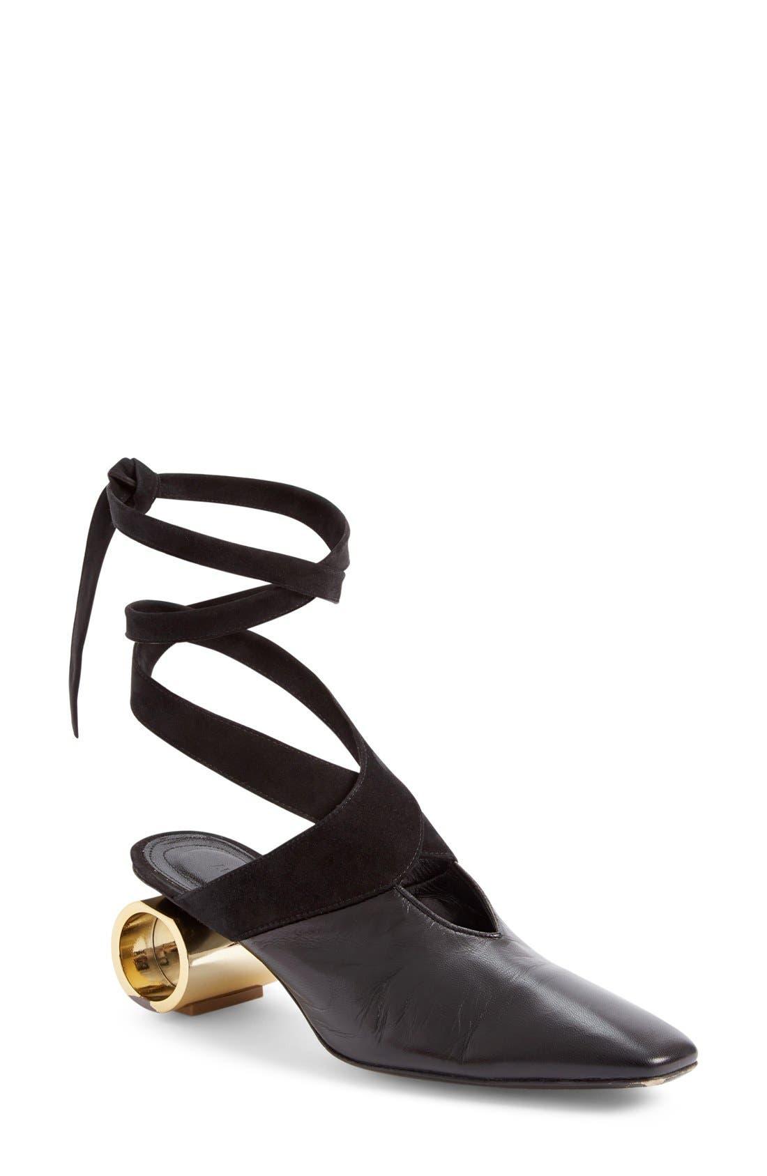 Alternate Image 1 Selected - J.W.ANDERSON Cylinder Heel Ballet Slide (Women)