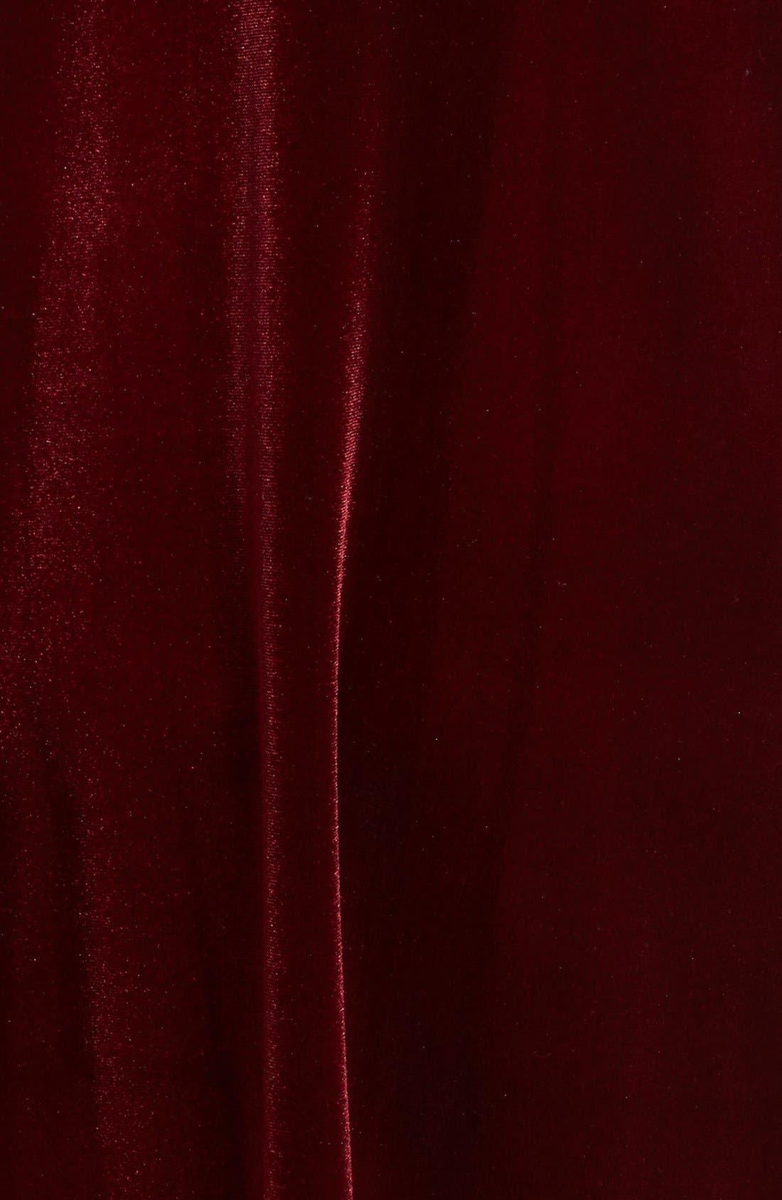 Alternate Image 5  - One Clothing Keyhole Velvet Swing Dress