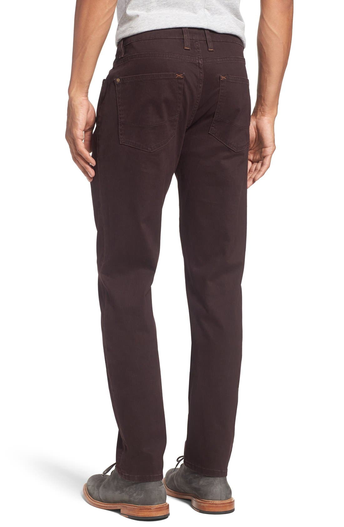 Print Slim Fit Trouser Jeans,                             Alternate thumbnail 2, color,                             Dark Red
