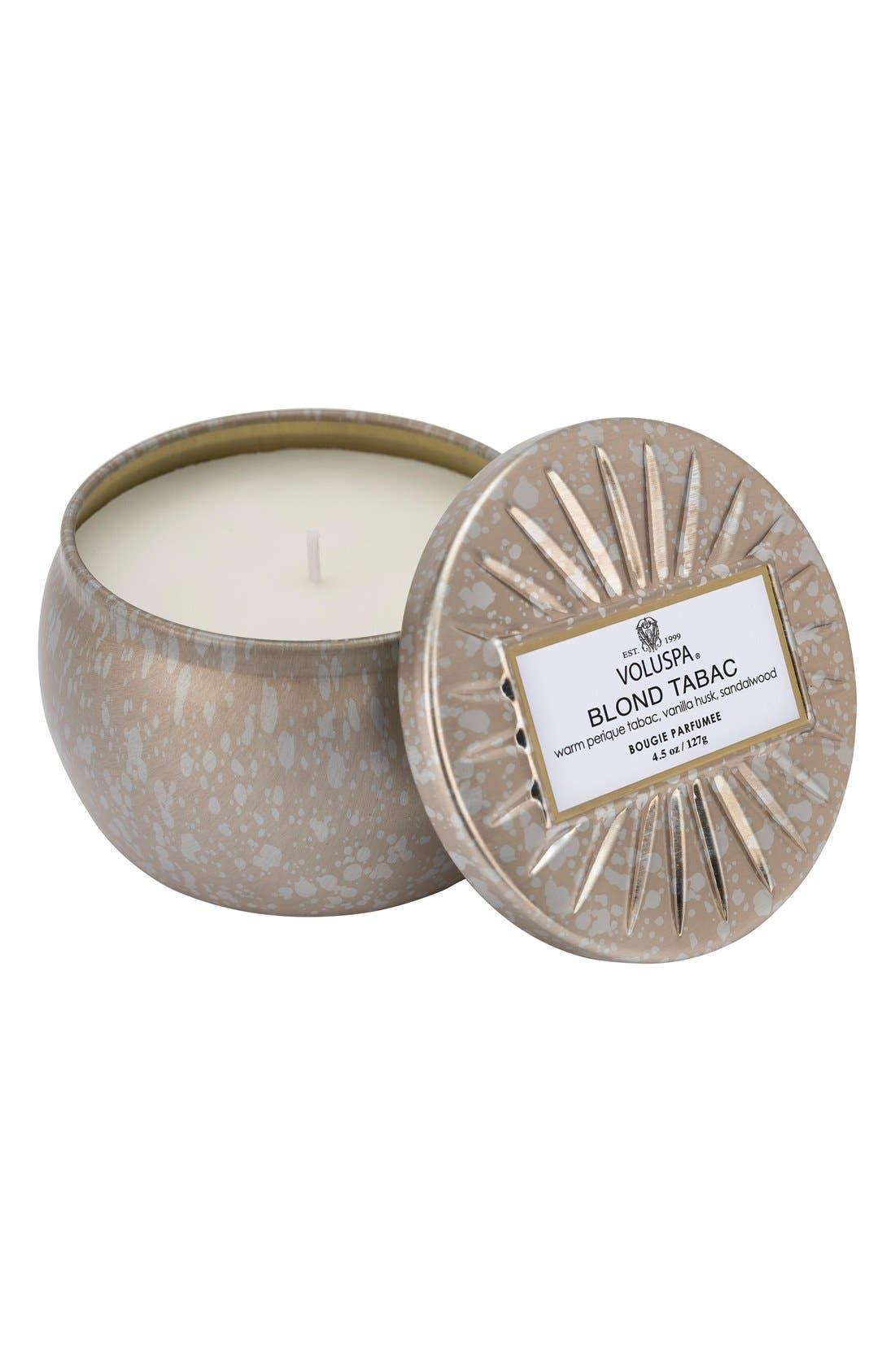 Voluspa Vermeil Blond Tabac Mini Tin Candle
