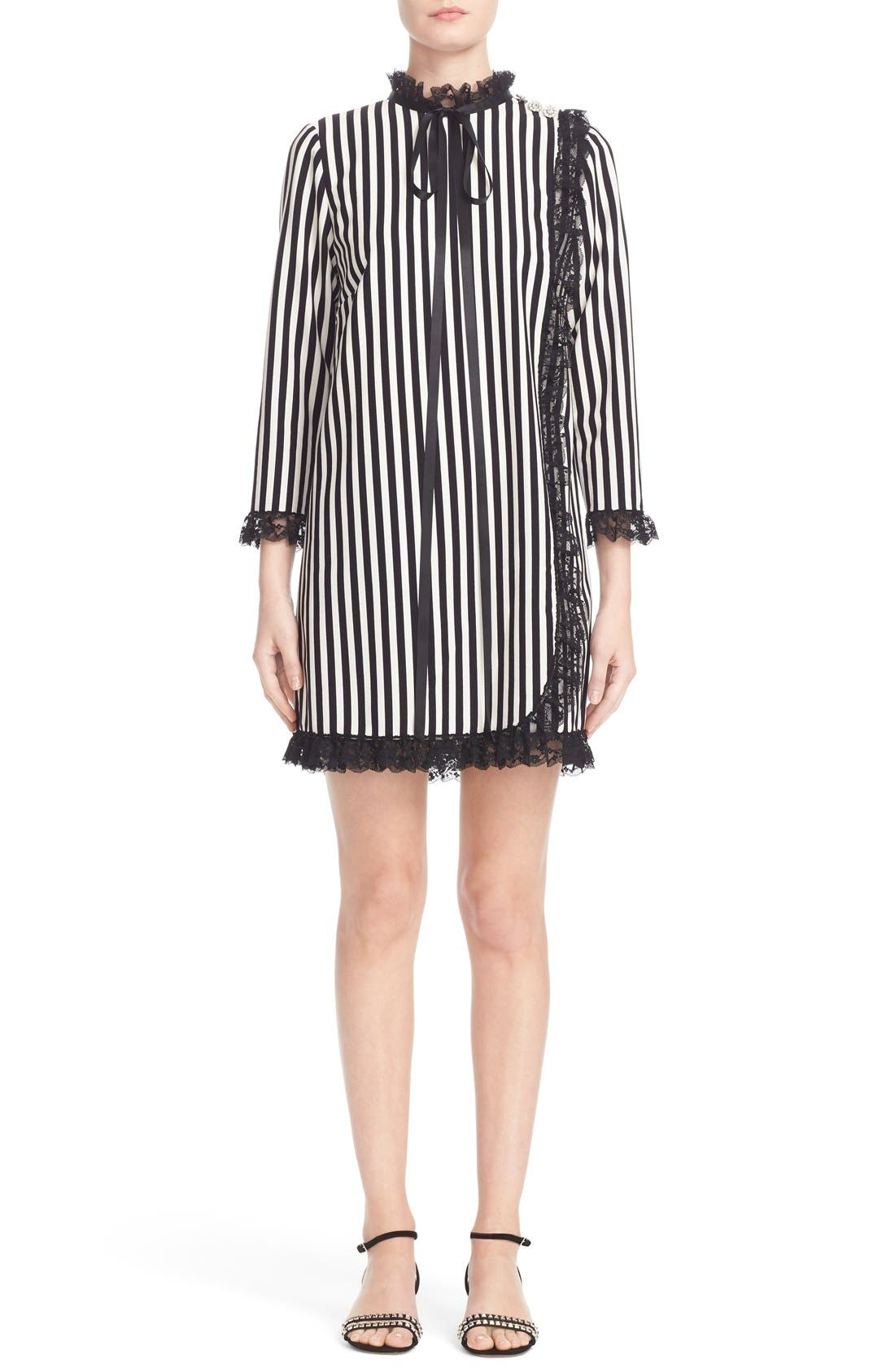 Alternate Image 1 Selected - MARC JACOBS Stripe Crepe Babydoll Dress