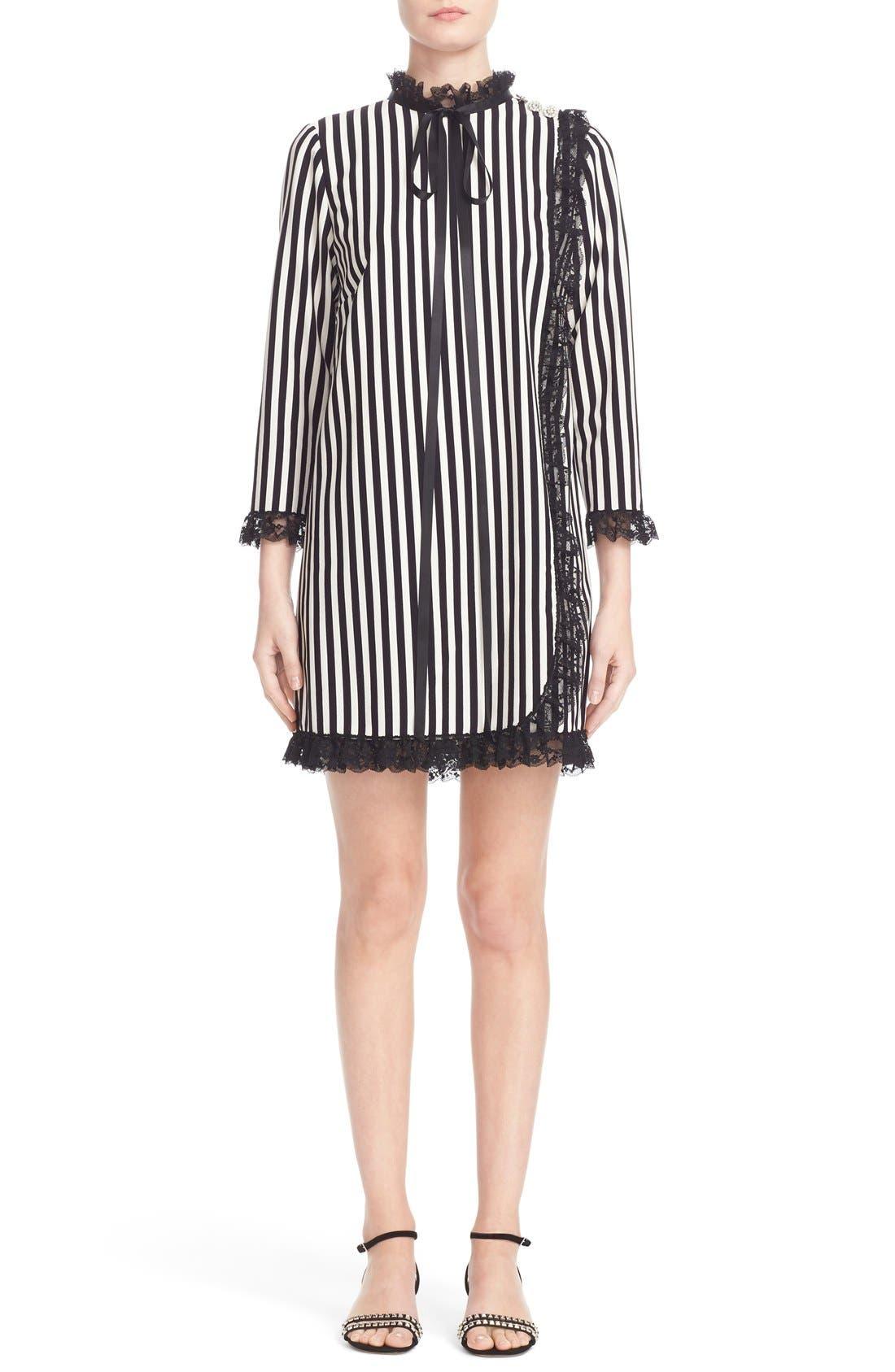 Main Image - MARC JACOBS Stripe Crepe Babydoll Dress