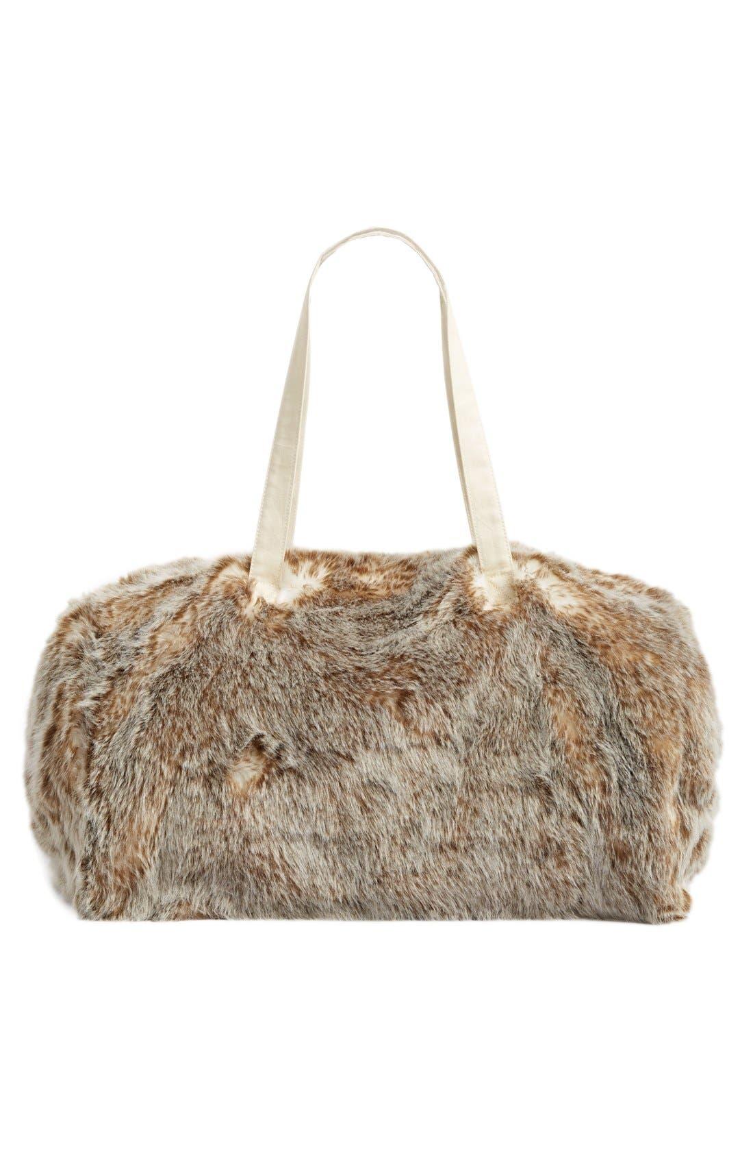 Alternate Image 3  - Nordstrom at Home Cuddle Up Faux Fur Duffel Bag