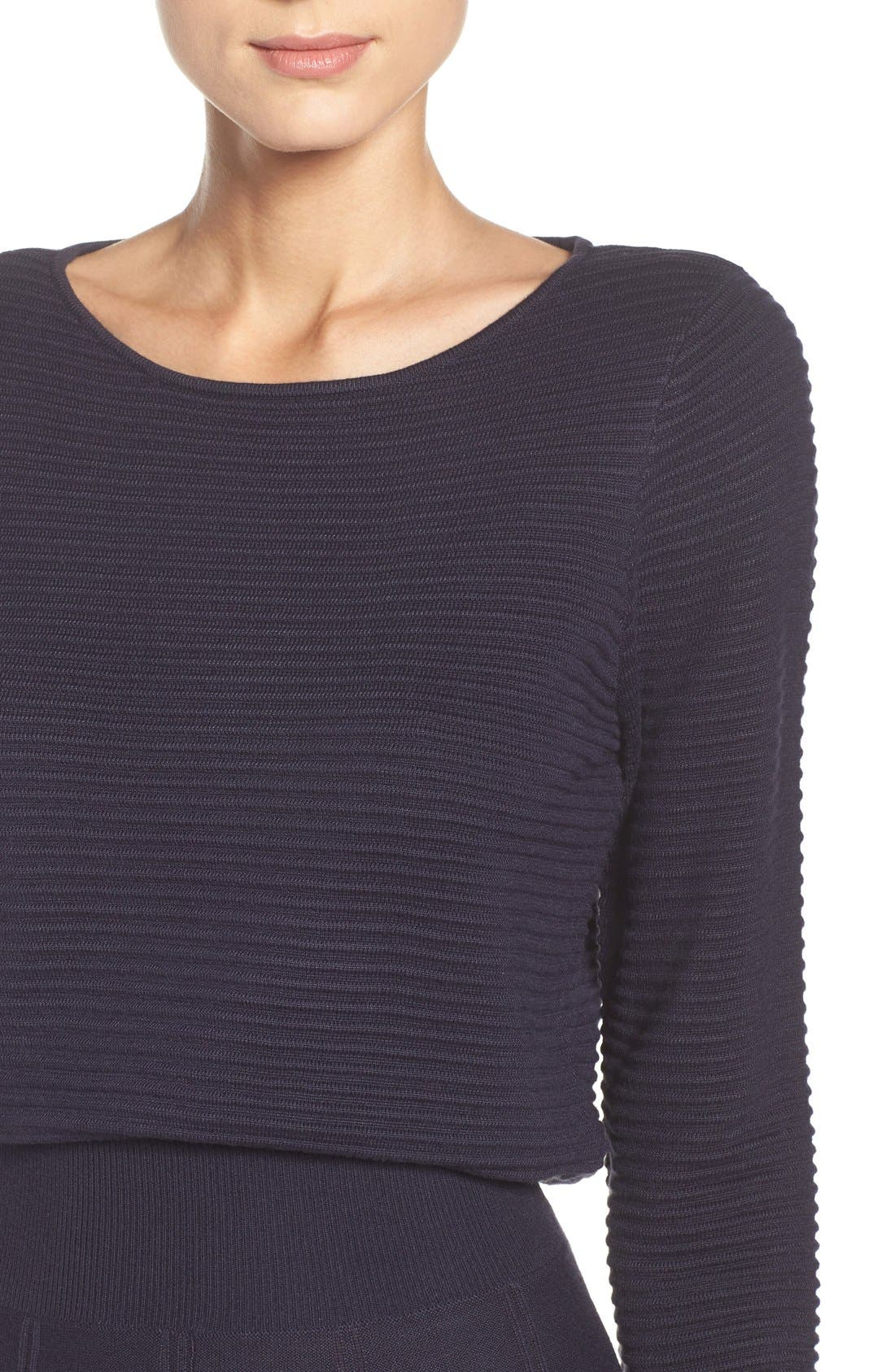 Alternate Image 4  - Eliza J Sweater Fit & Flare Dress