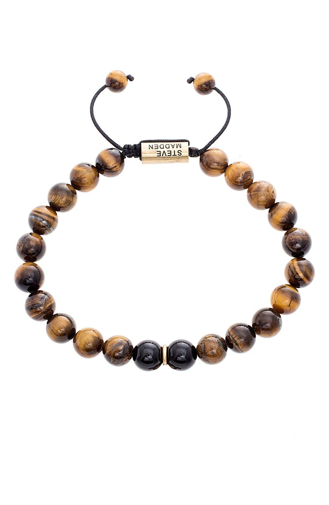 STEVE MADDEN Tigers Eye Bead Bracelet