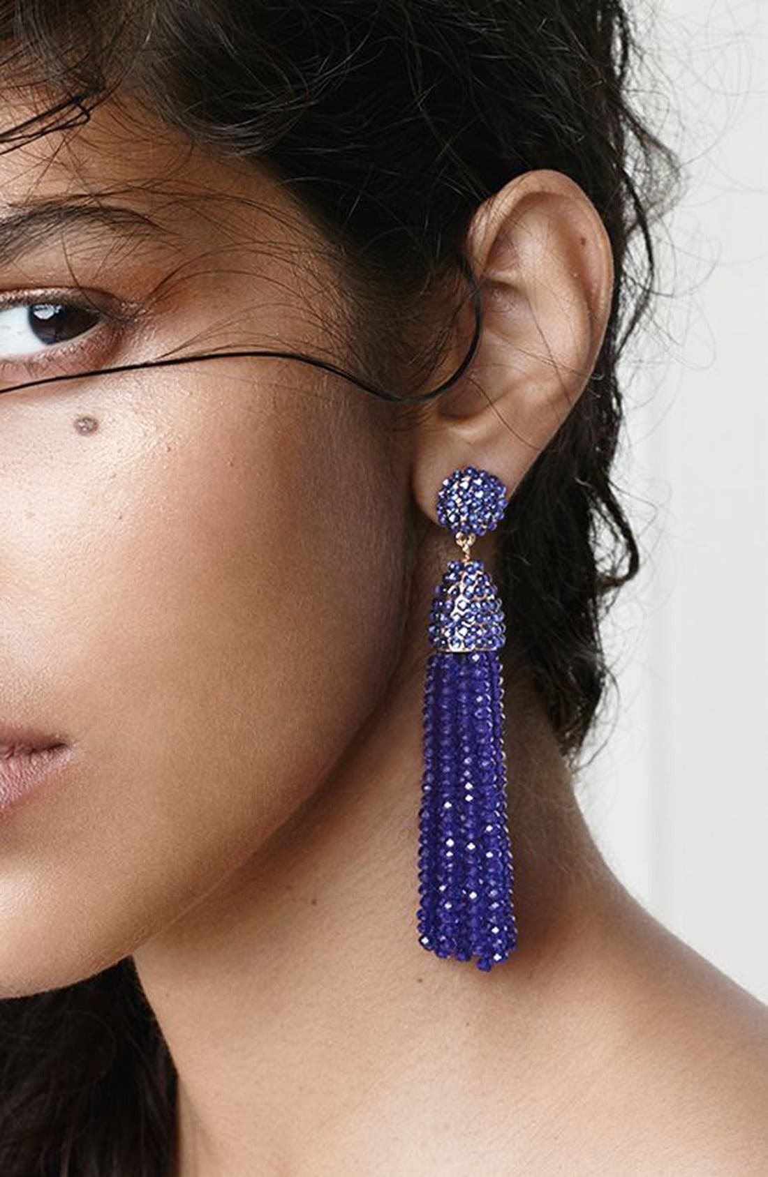 'Nynette' Tassel Drop Earrings,                             Alternate thumbnail 2, color,