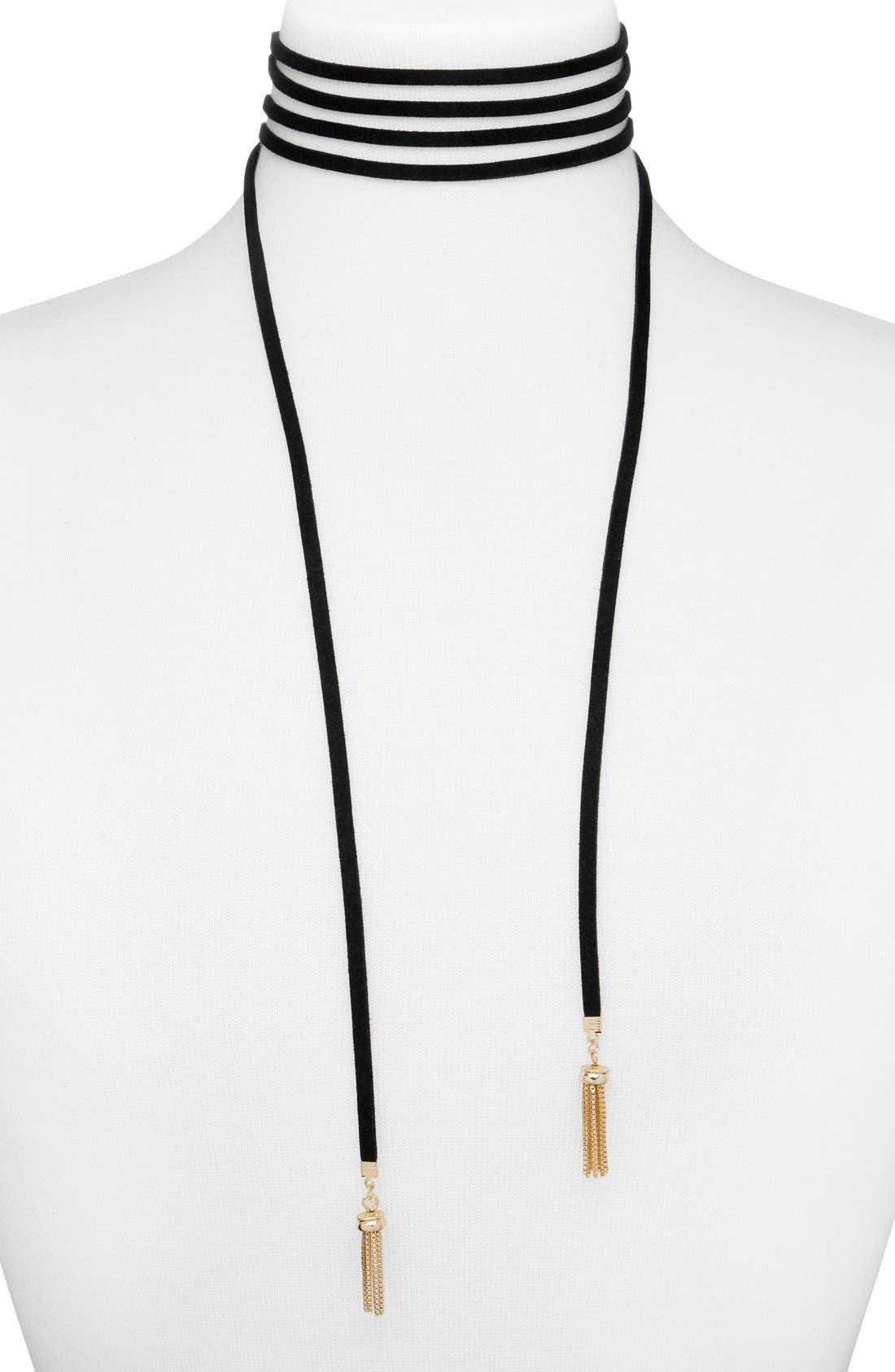 Main Image - BaubleBar Lariat Choker Necklace