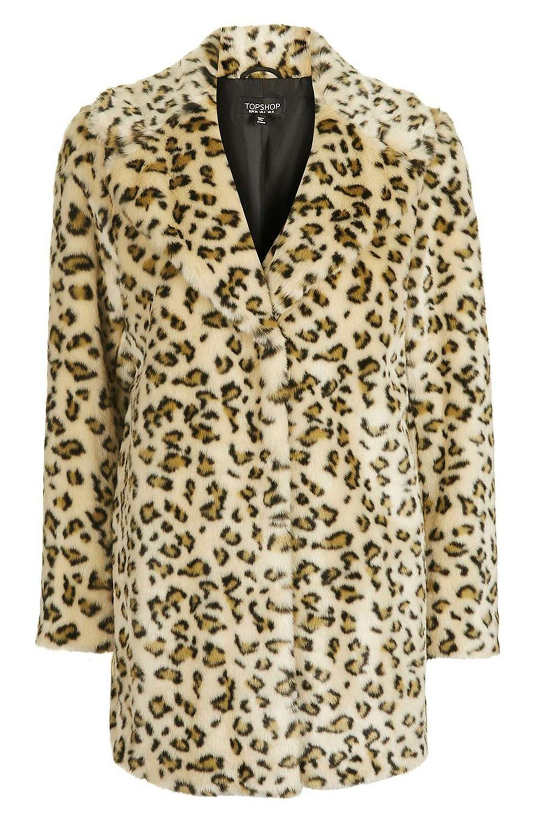 Alternate Image 5  - Topshop Leopard Faux Fur Coat