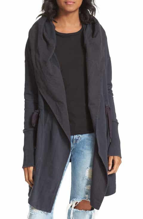 Women's Black Cotton Cardigan Sweaters   Nordstrom