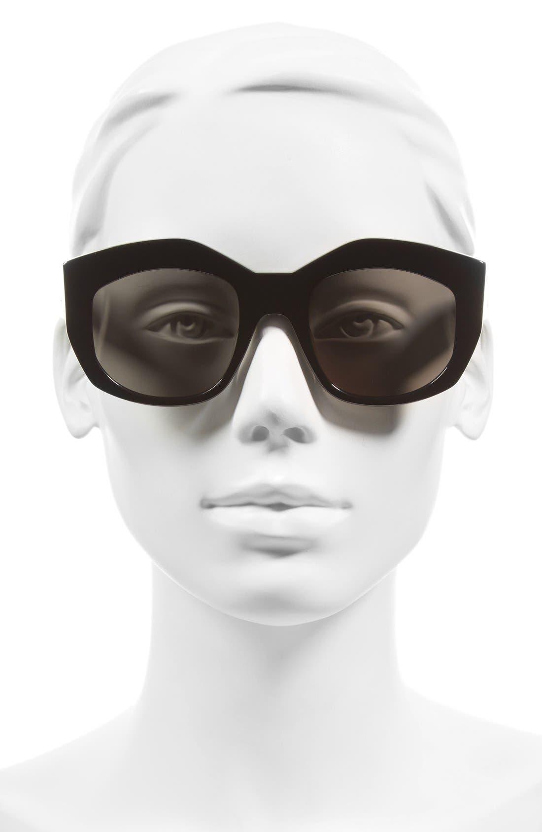 50mm Badland Sunglasses,                             Alternate thumbnail 2, color,                             Gloss Black