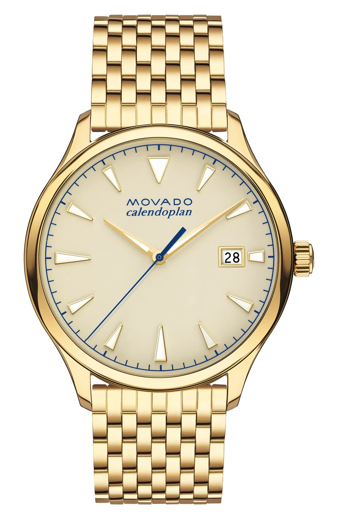 Heritage Calendoplan Bracelet Watch, 40mm by Movado