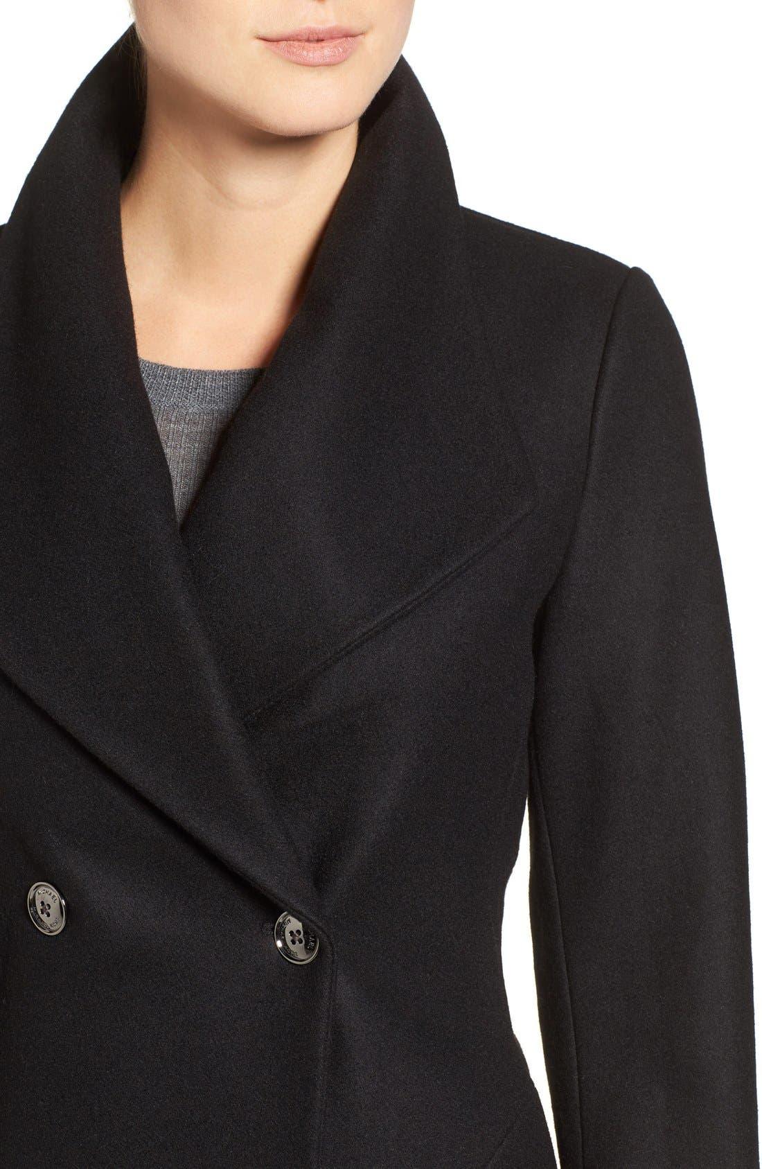 Alternate Image 4  - MICHAEL Michael Kors Double Breasted Swing Coat (Regular & Petite)
