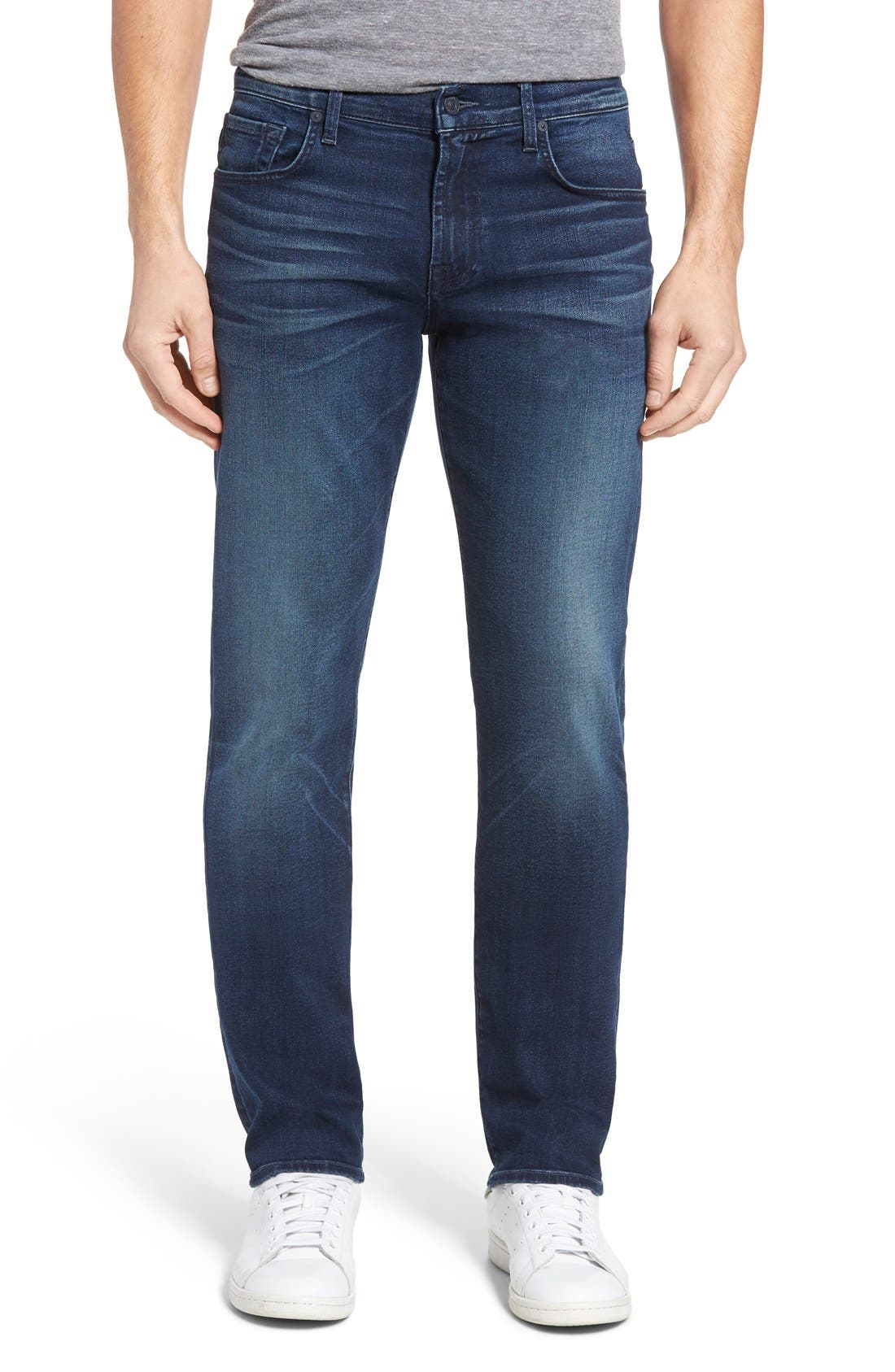 Main Image - 7 For All Mankind® Slimmy Luxe Performance Slim Fit Jeans (Belfast)