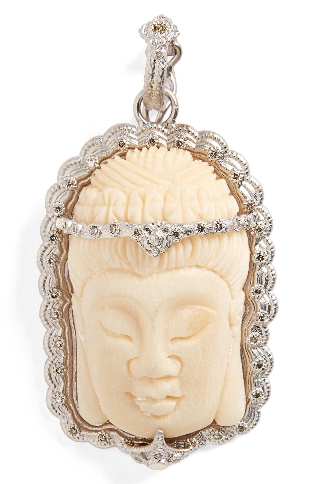 ARMENTA New World Buddha Bone Pendant