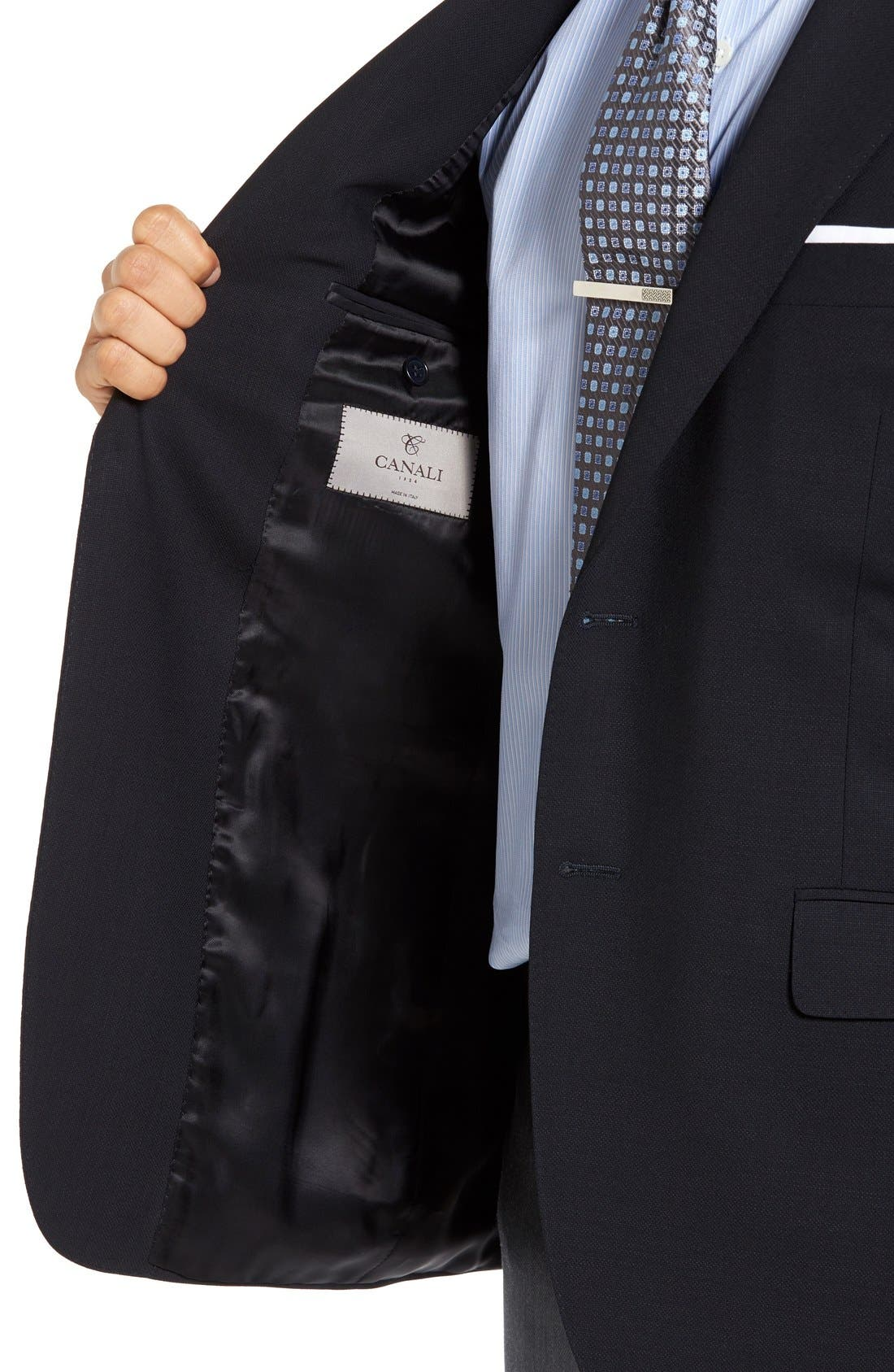 Alternate Image 4  - Canali Classic Fit Solid Wool Blazer