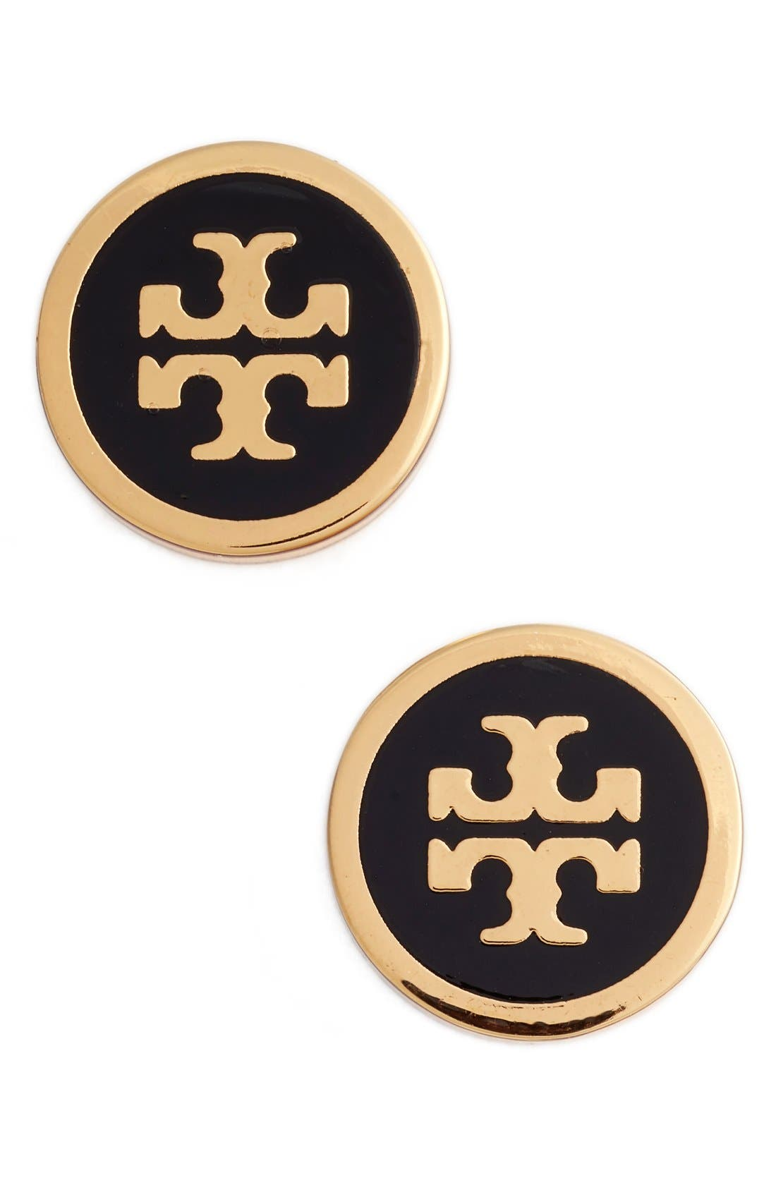 TORY BURCH Logo Stud Earrings