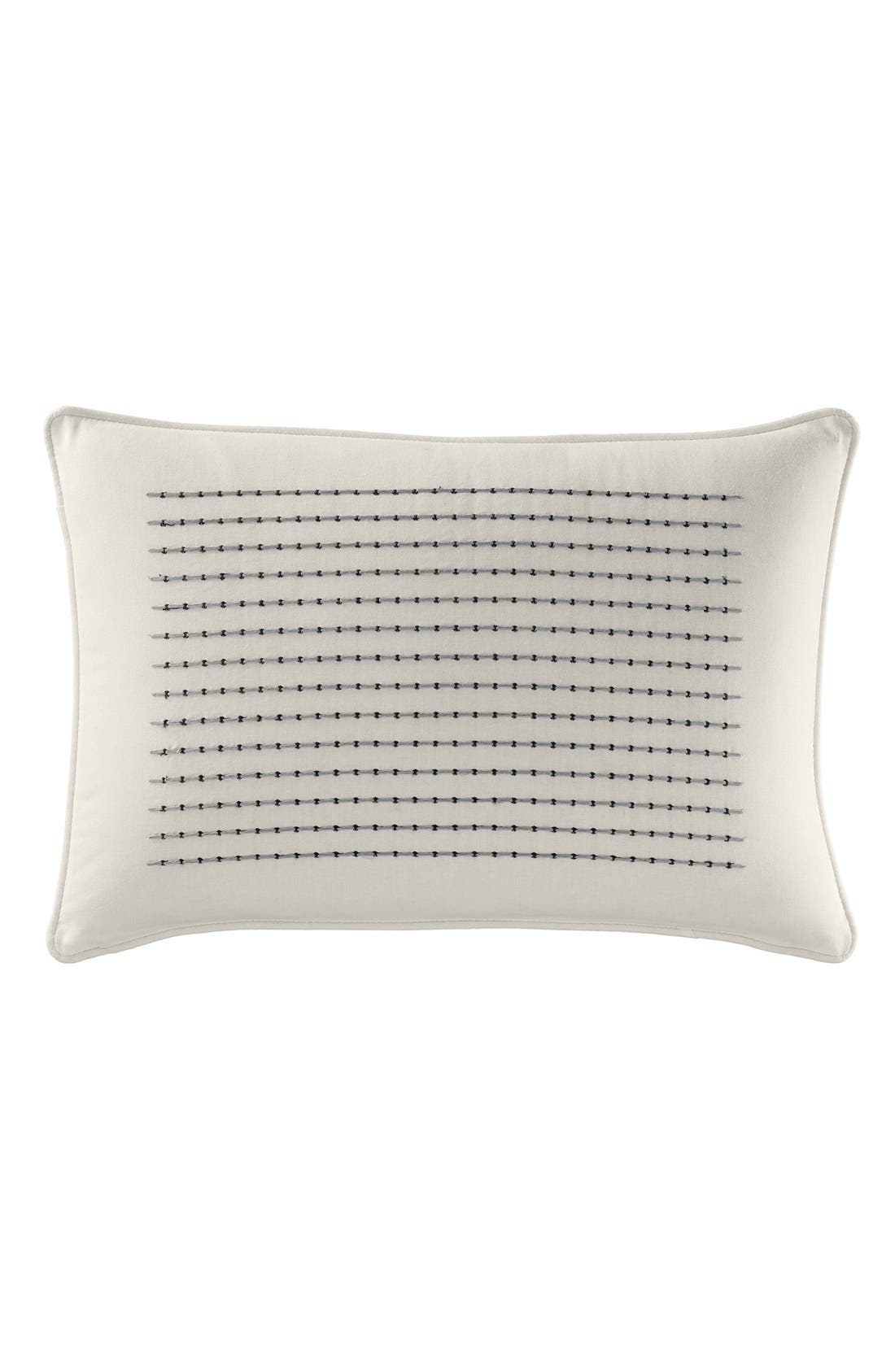 Caldwell Embroidered Pillow,                         Main,                         color, White