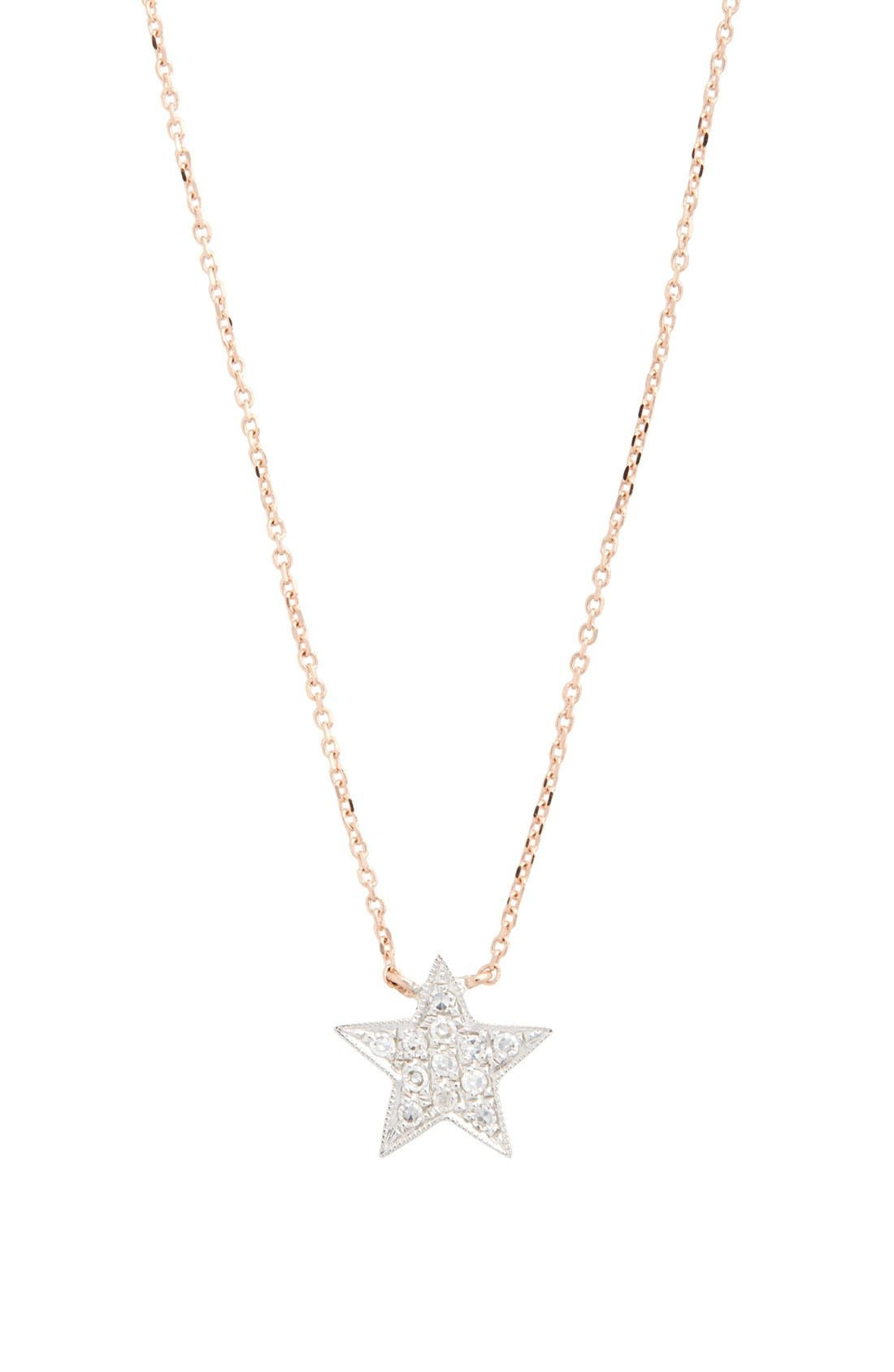 Alternate Image 3  - Dana Rebecca Designs 'Julianne Himiko' Diamond Star Pendant Necklace