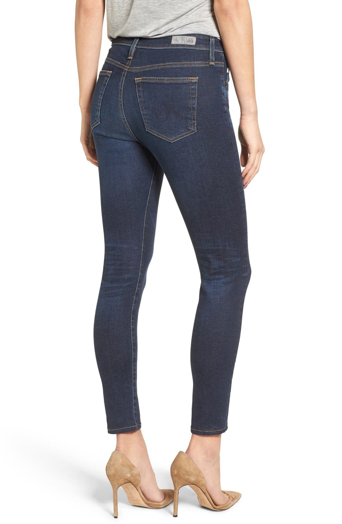 Alternate Image 2  - AG The Farrah High Waist Ankle Skinny Jeans (02 Years Beginnings) (Nordstrom Exclusive)