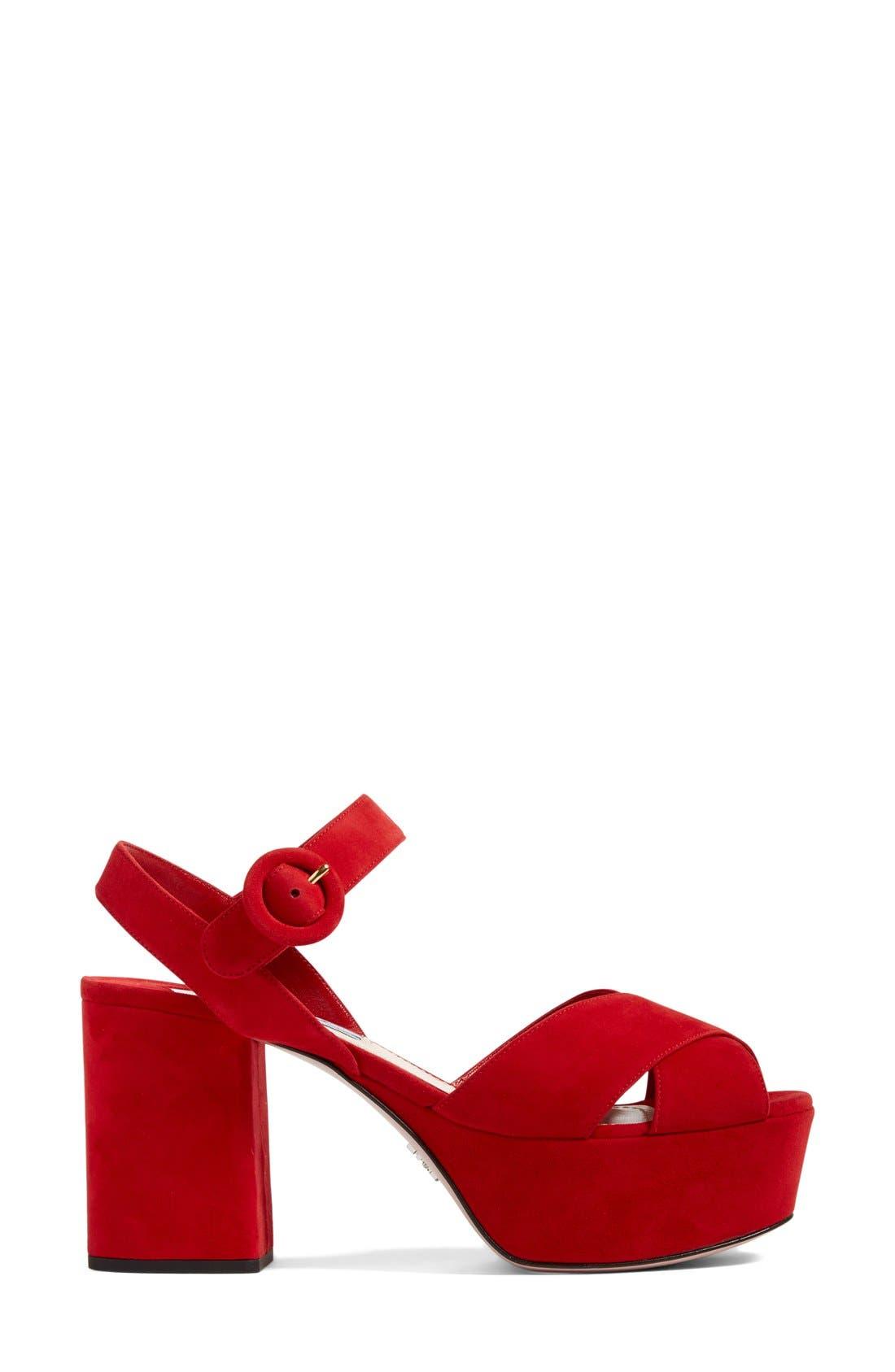 Alternate Image 4  - Prada Strappy Platform Sandal (Women)
