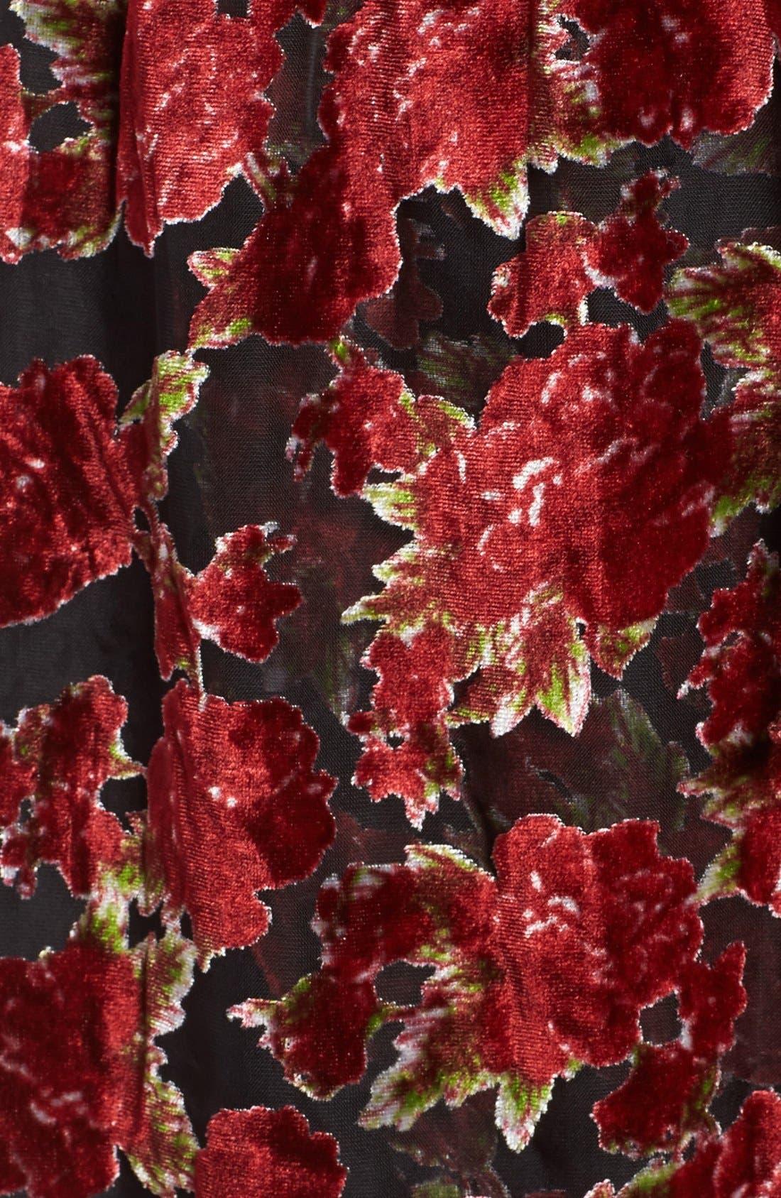 Alternate Image 5  - Band of Gypsies Floral Velvet Dress