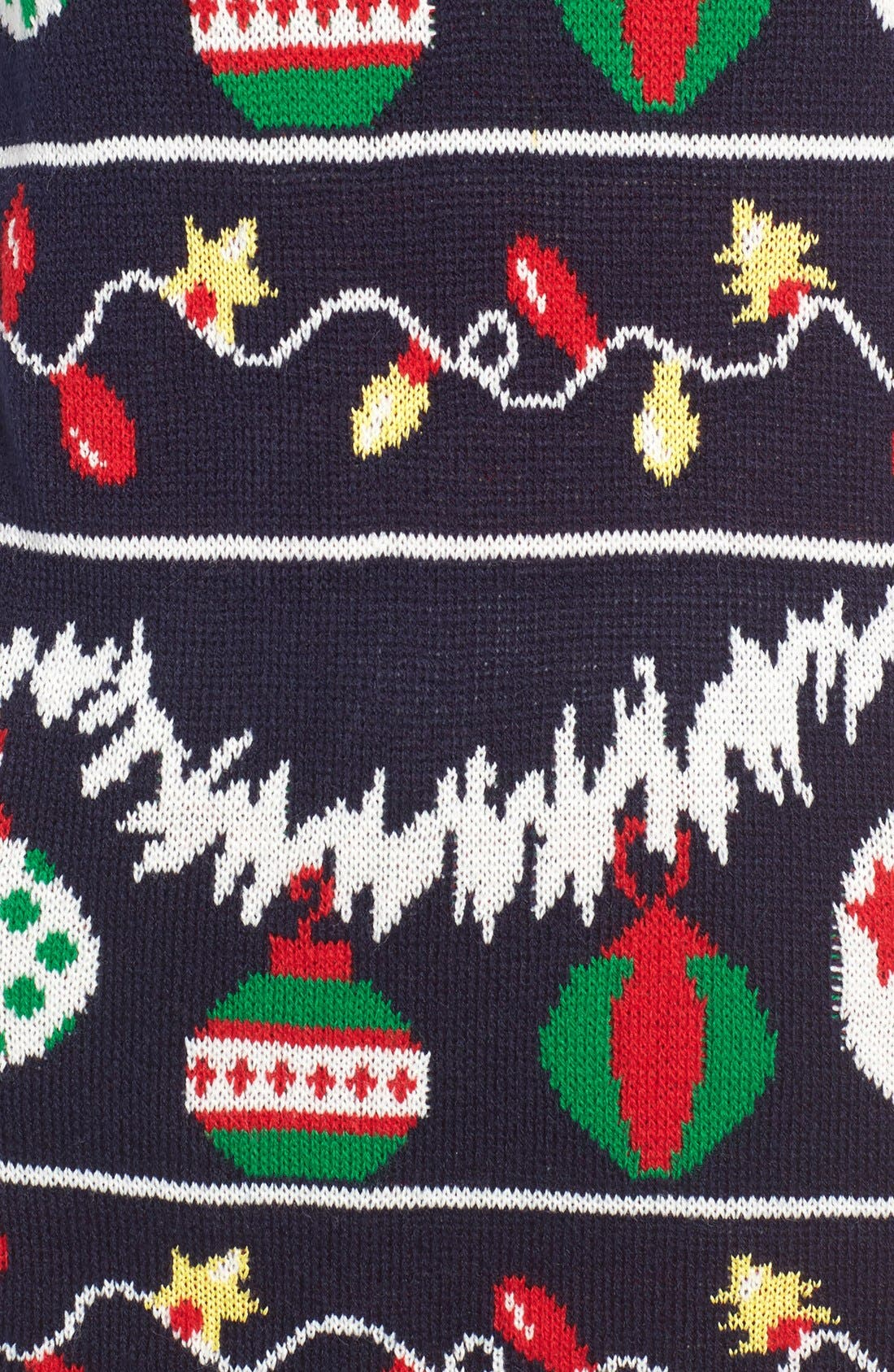 Alternate Image 5  - Cotton Emporium Ornament Christmas Sweater