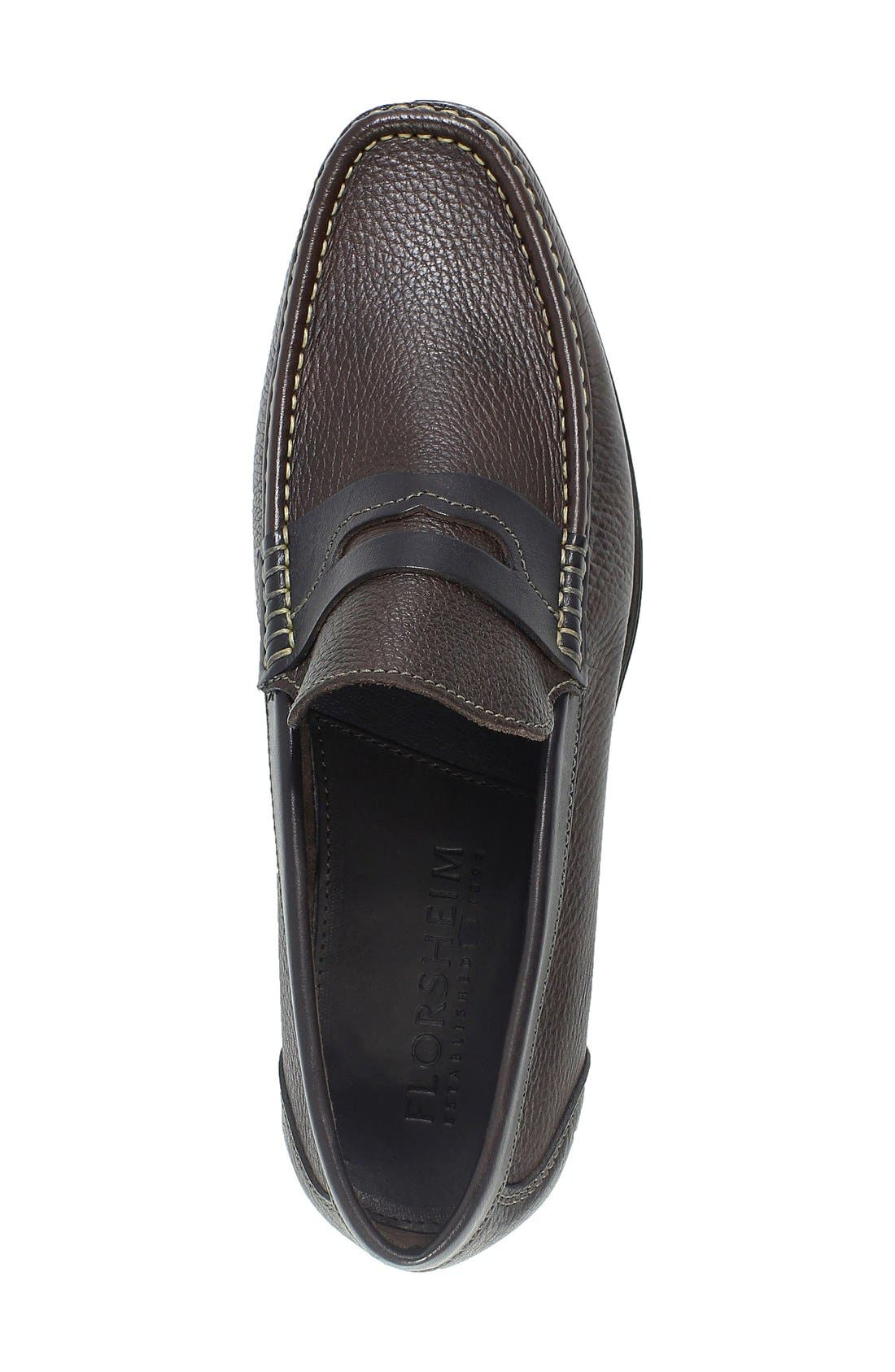 Westbrook Penny Loafer,                             Alternate thumbnail 3, color,                             Brown Milled Leather
