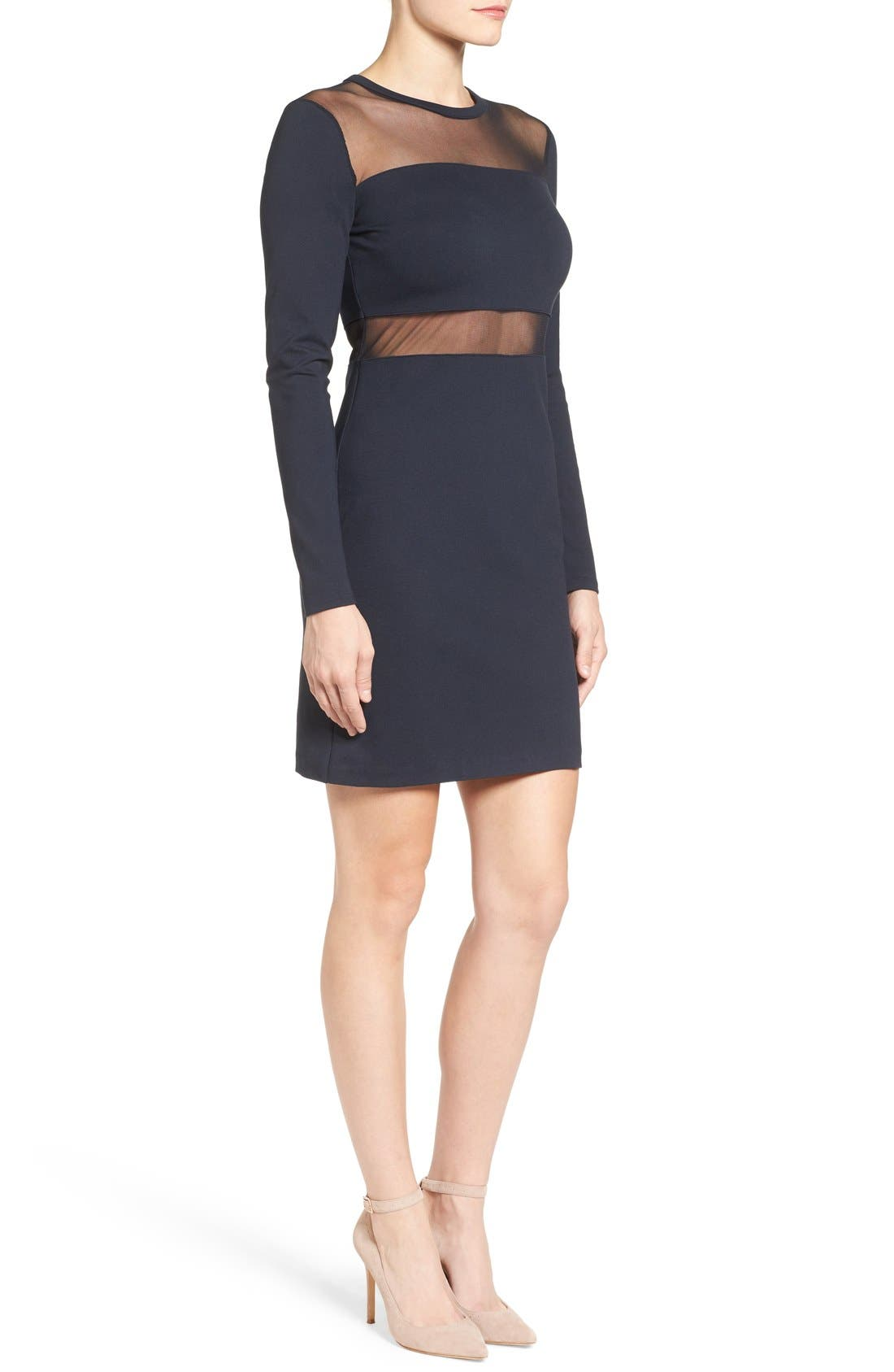 Alternate Image 3  - MICHAEL Michael Kors Mesh Panel Sheath Dress