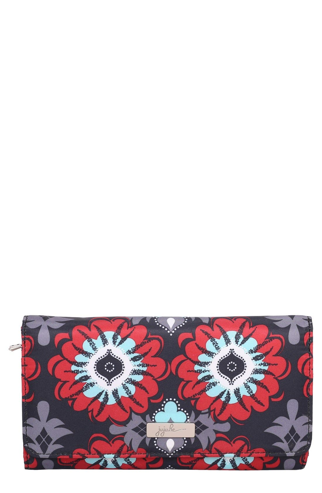 Legacy Be Rich Trifold Clutch Wallet,                             Main thumbnail 1, color,                             Sweet Scarlet