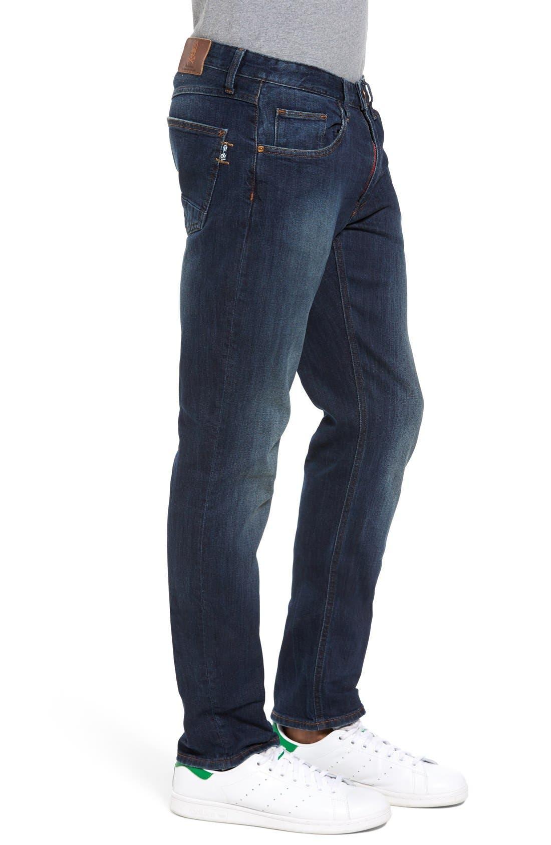 Spitfire Slim Fit Jeans,                             Alternate thumbnail 3, color,                             Indigo