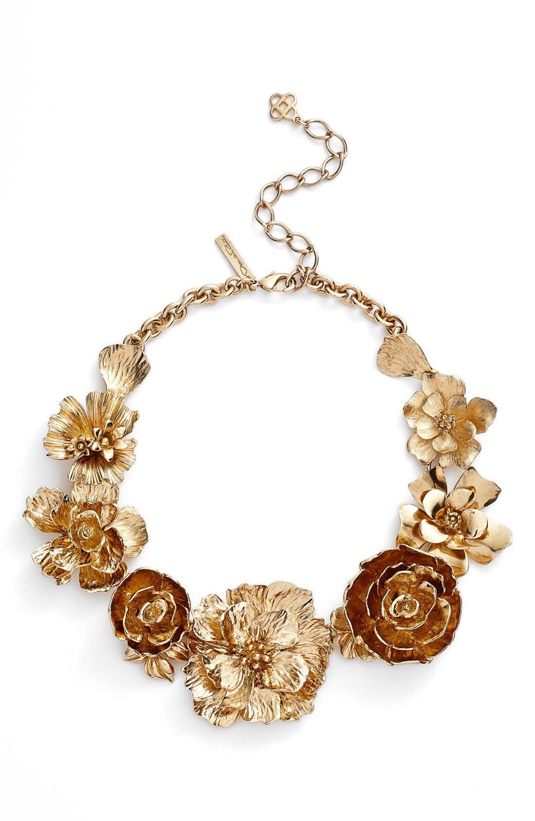 Alternate Image 1 Selected - Oscar de la Renta 'Bold Flower' Necklace