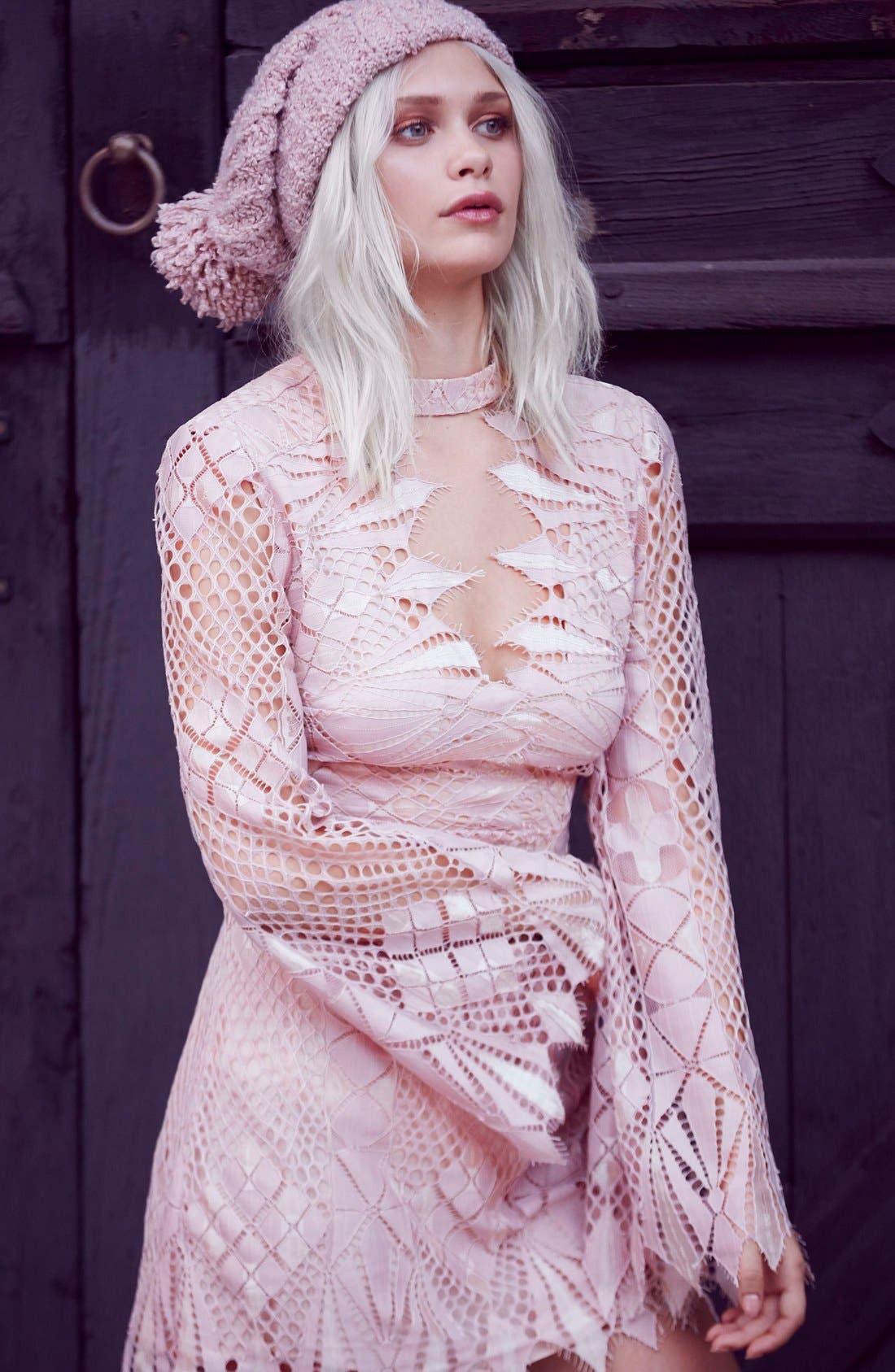 Alternate Image 2  - Free People Deco Crochet Minidress