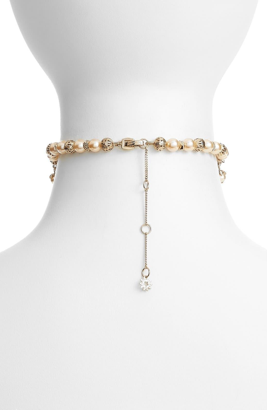 Alternate Image 2  - Marchesa Imitation Pearl Choker Necklace