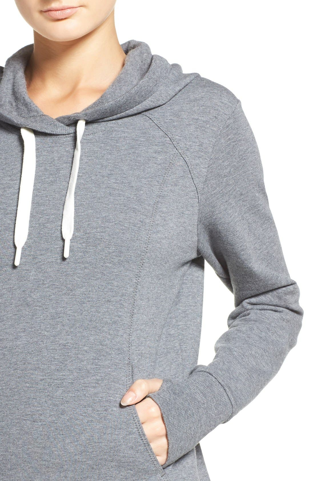En Route Hoodie,                             Alternate thumbnail 4, color,                             Grey Dark Heather