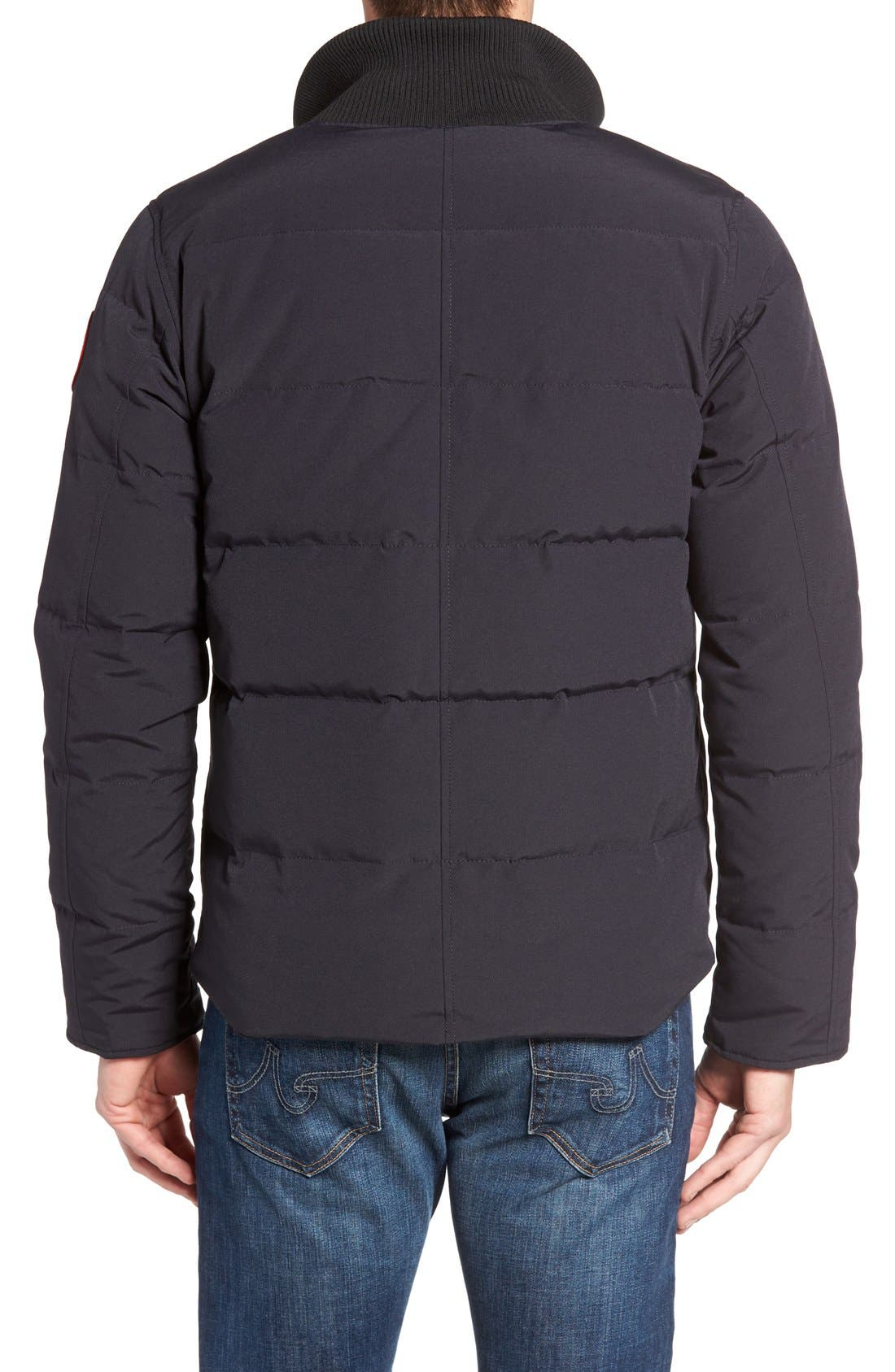 'Woolford' Down Bomber Jacket,                             Alternate thumbnail 2, color,                             Navy