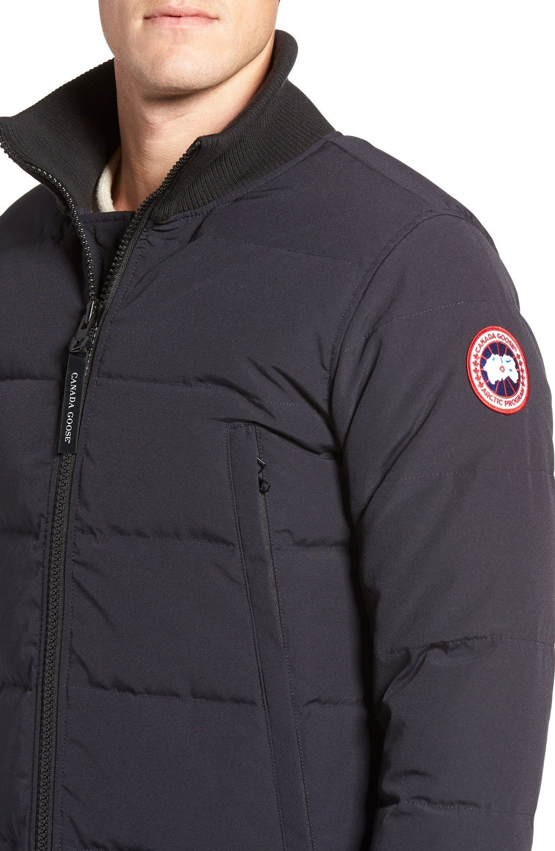 'Woolford' Down Bomber Jacket,                             Alternate thumbnail 4, color,                             Navy