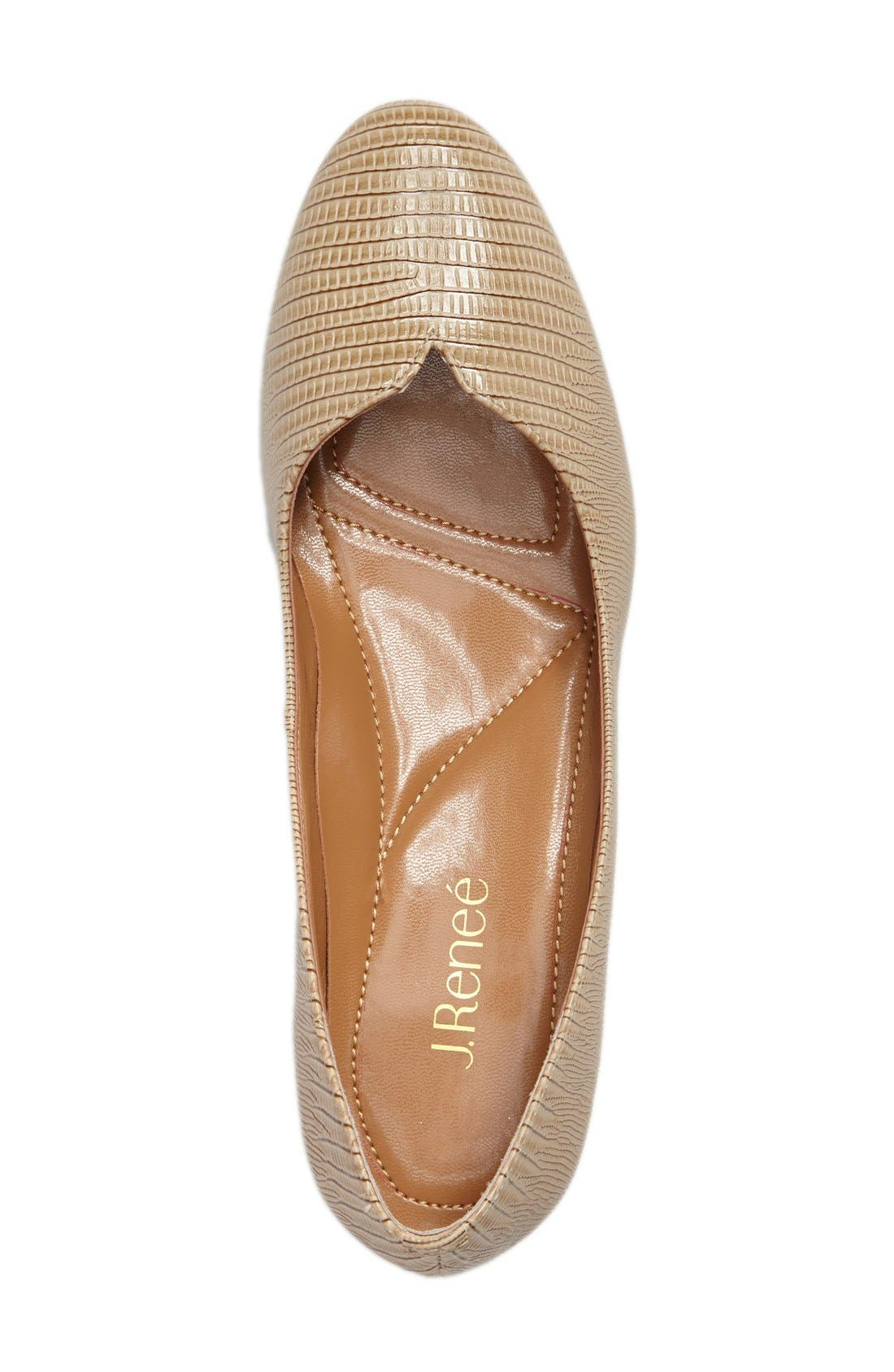 Bambalina Block Heel Pump,                             Alternate thumbnail 3, color,                             Taupe Faux Leather