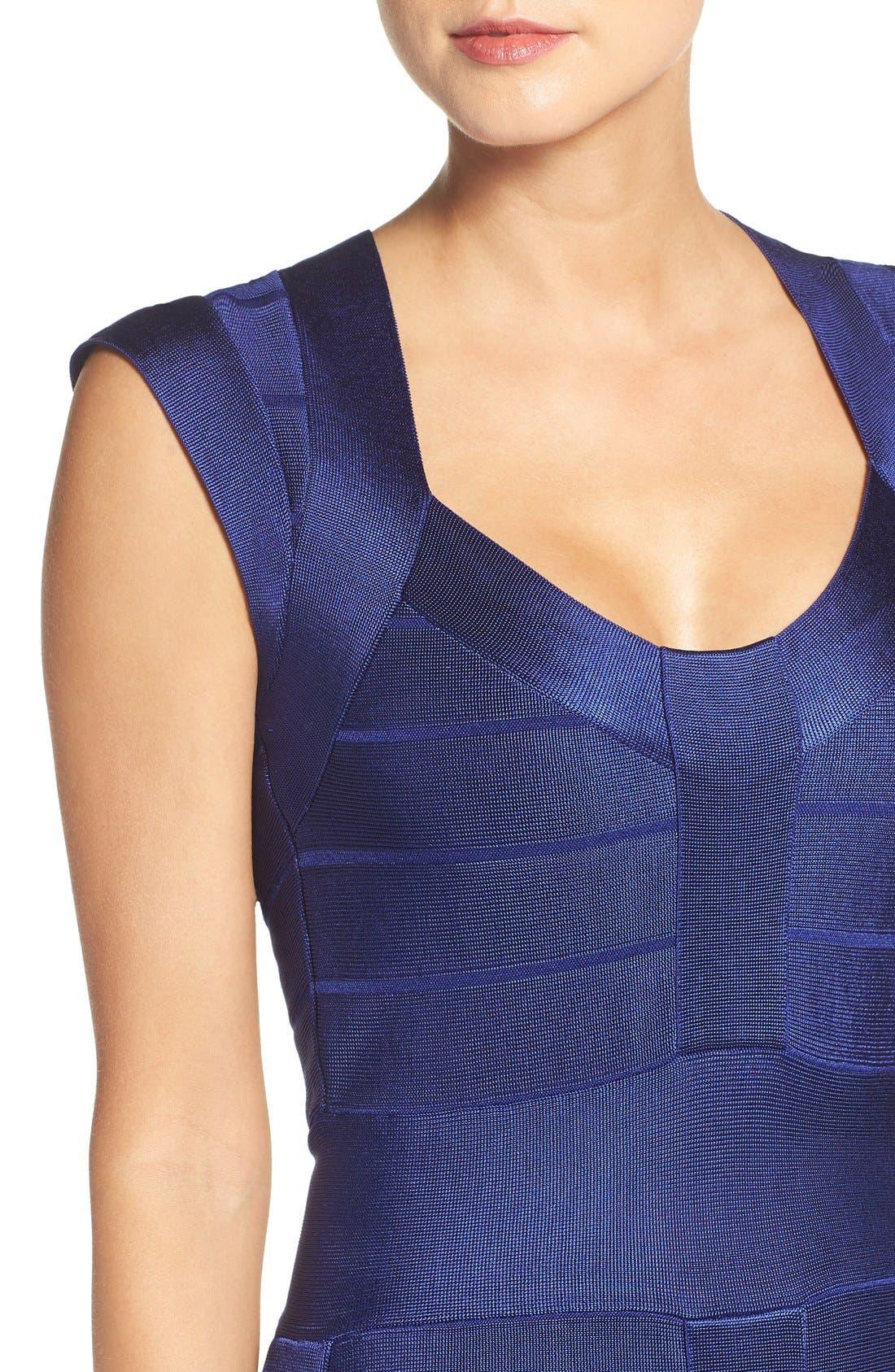 Spotlight Bandage Dress,                             Alternate thumbnail 5, color,                             Maya Blue