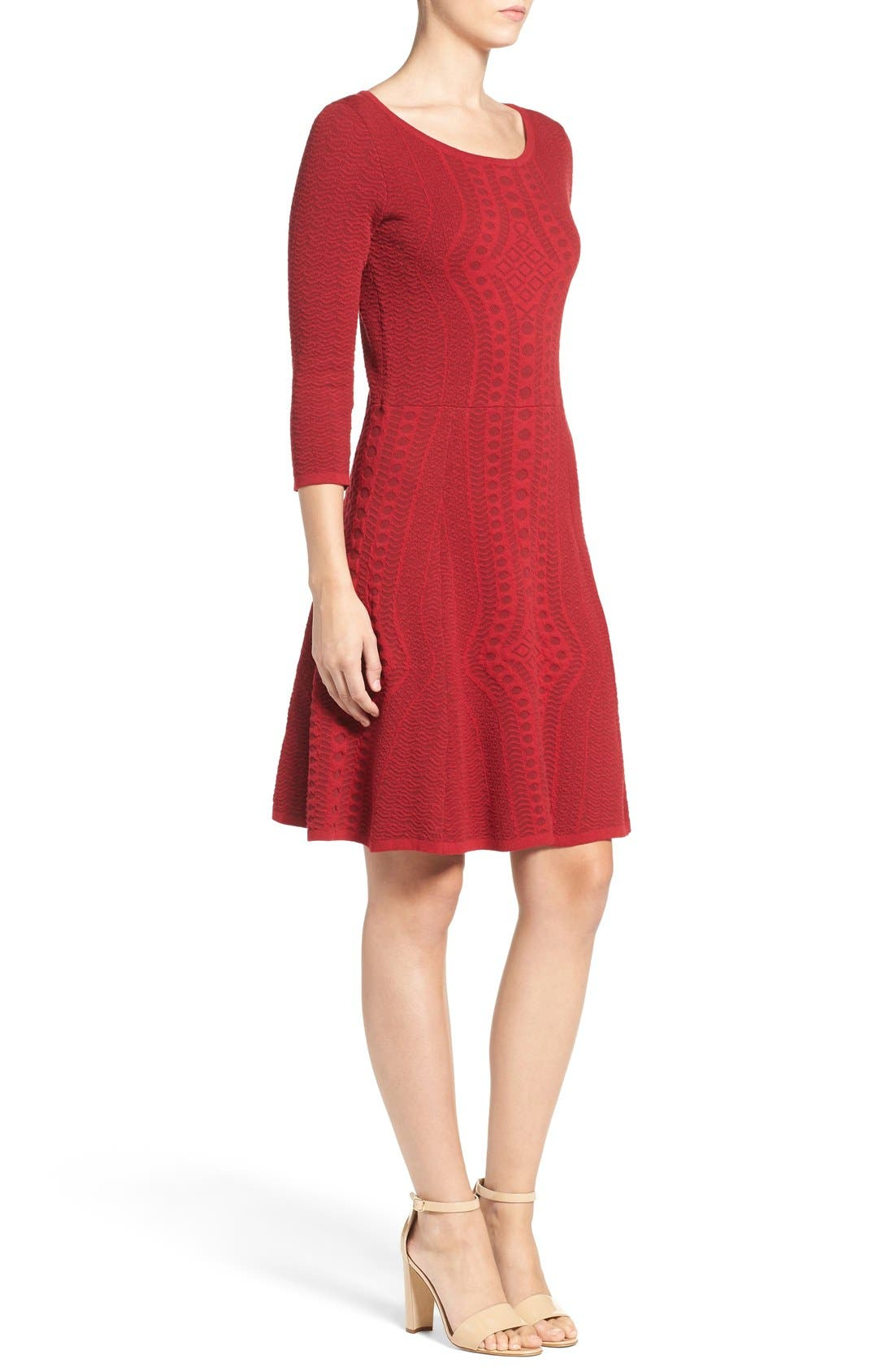 Alternate Image 3  - Gabby Skye Fit & Flare Sweater Dress