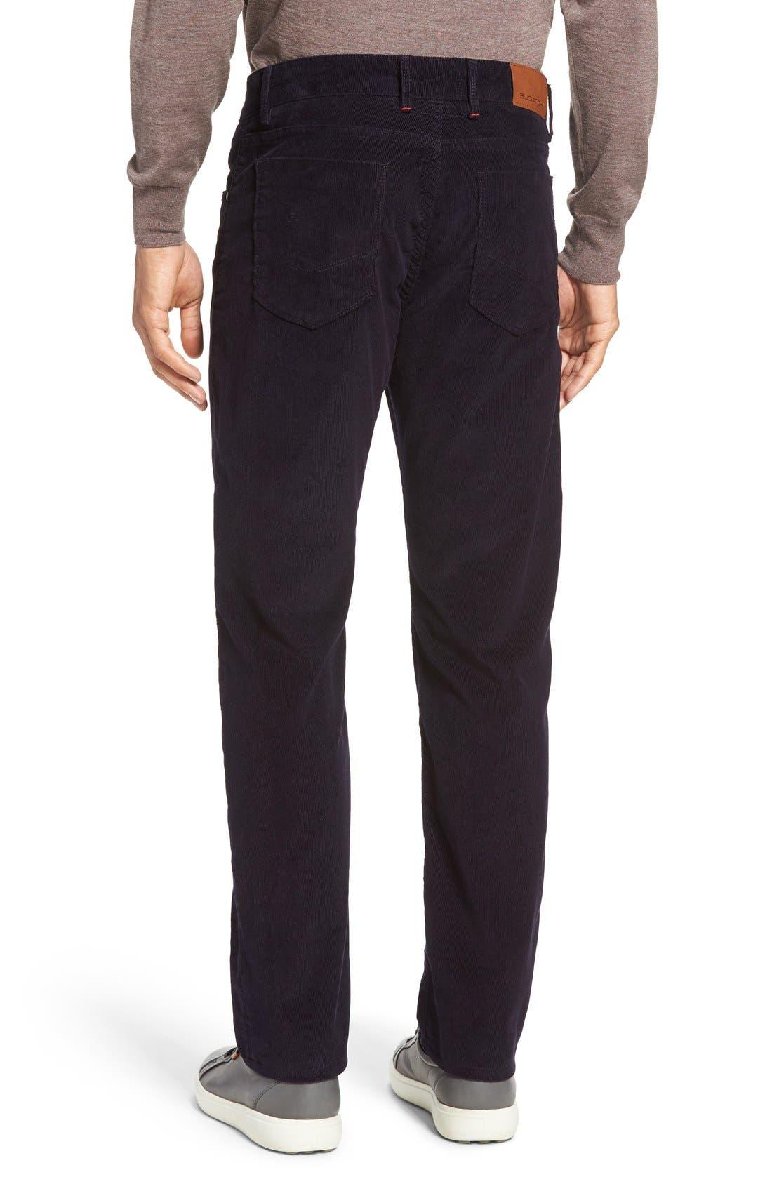 Alternate Image 2  - Bugatchi Slim Fit Corduroy Pants
