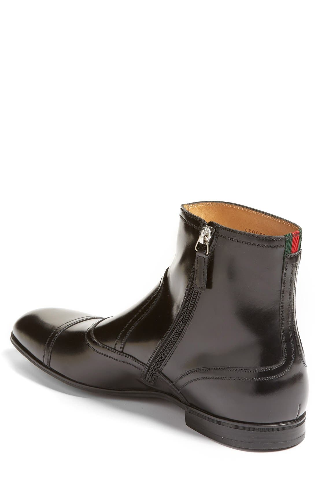 Ravello Zip Boot,                             Alternate thumbnail 2, color,                             Nero Leather