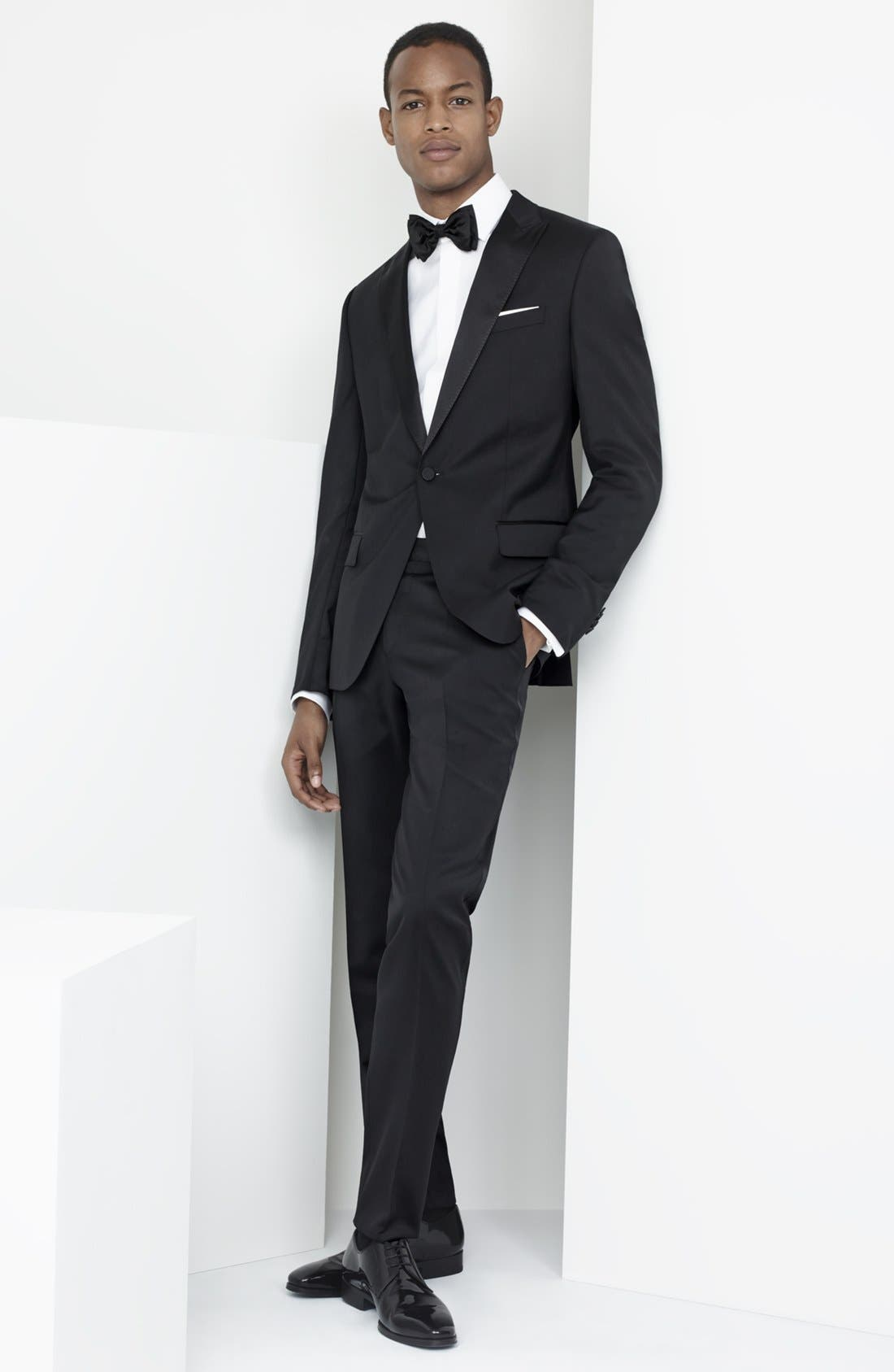 Alternate Image 9  - BOSS Trim Fit Wool Tuxedo