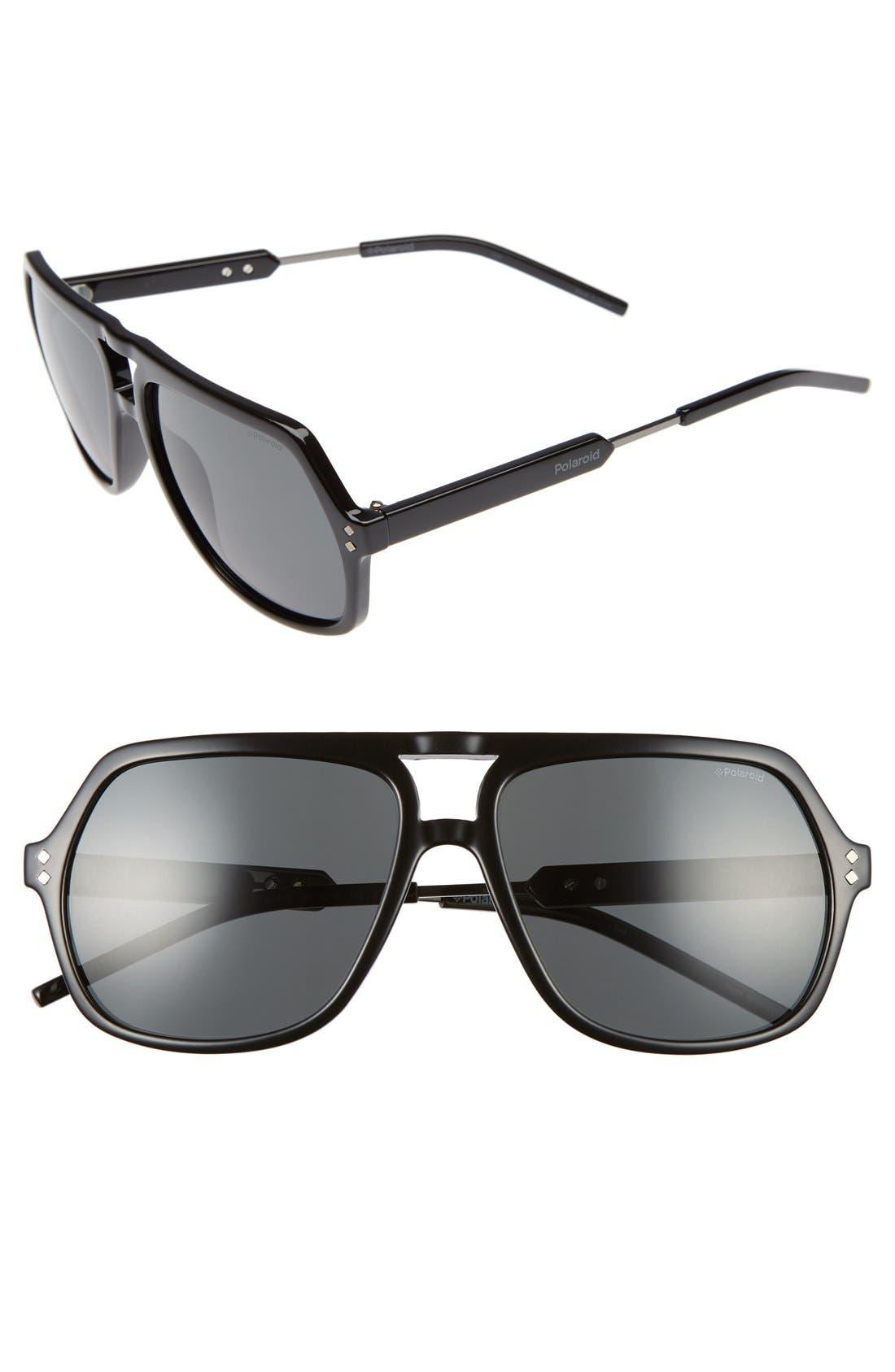Polaroid Eyewear 58mm Polarized Sunglasses