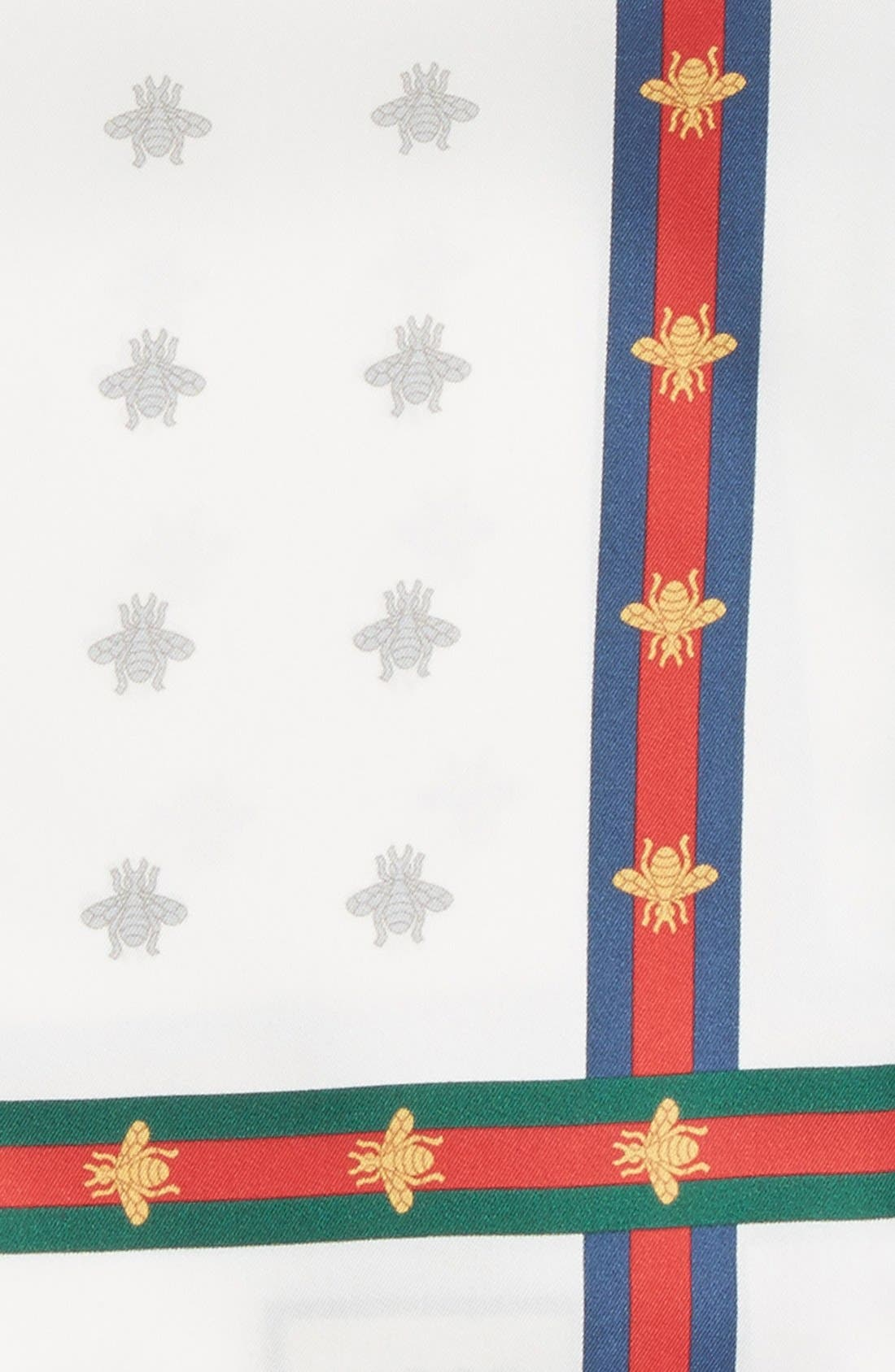 Runebis Silk Twill Pocket Square,                             Alternate thumbnail 3, color,                             White