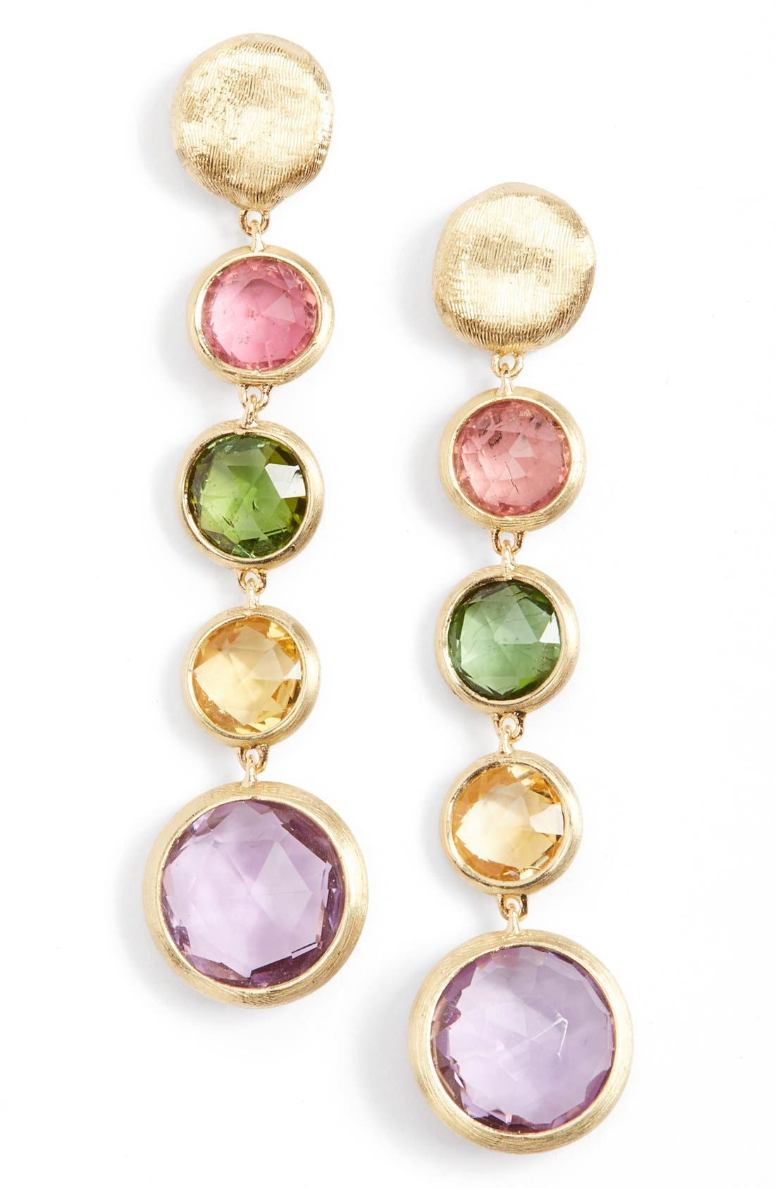 Alternate Image 1 Selected - Marco Bicego 'Jaipur' Semiprecious Stone Linear Earrings