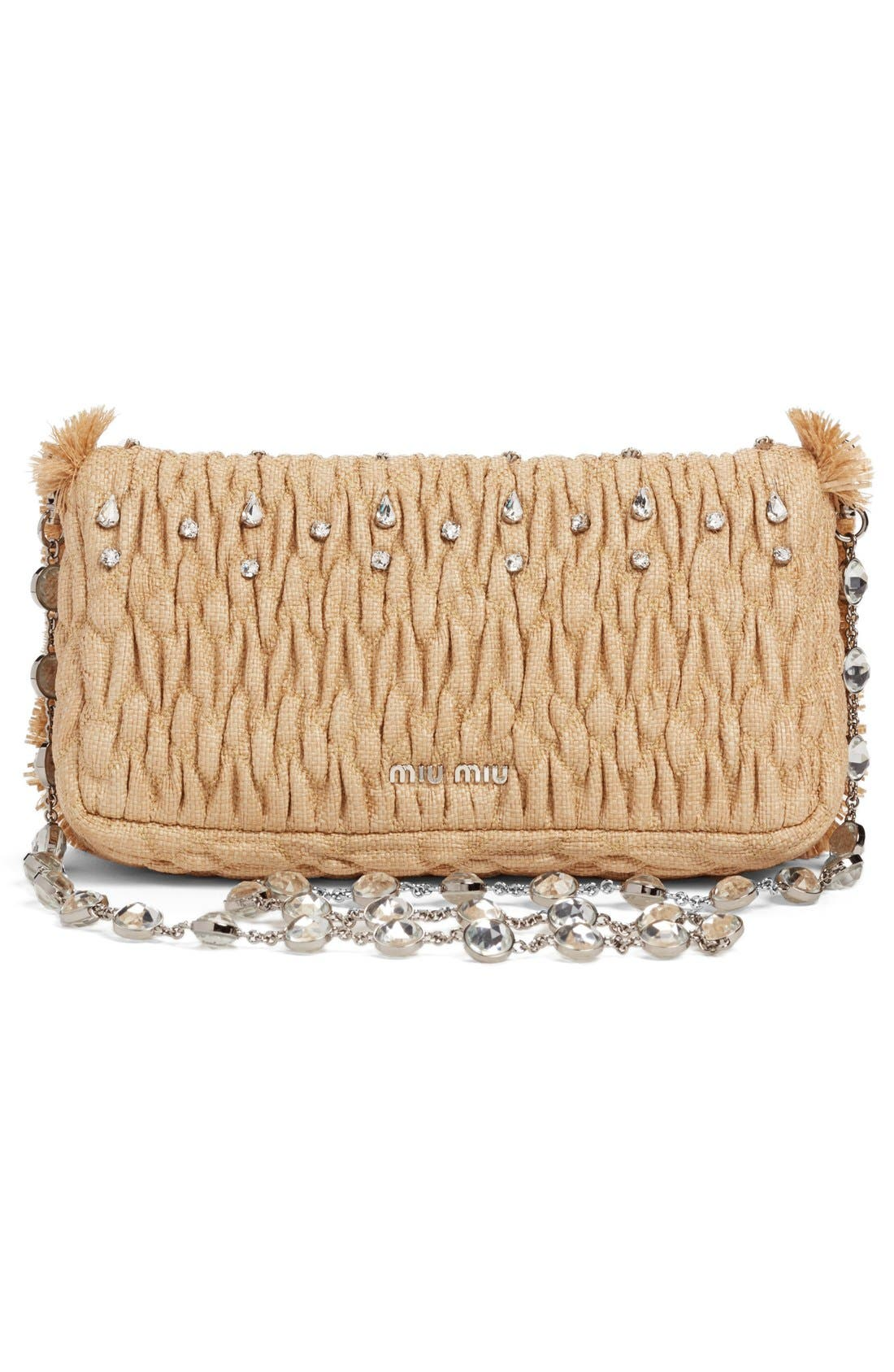 Alternate Image 3  - Miu Miu Paglia Straw Shoulder Bag